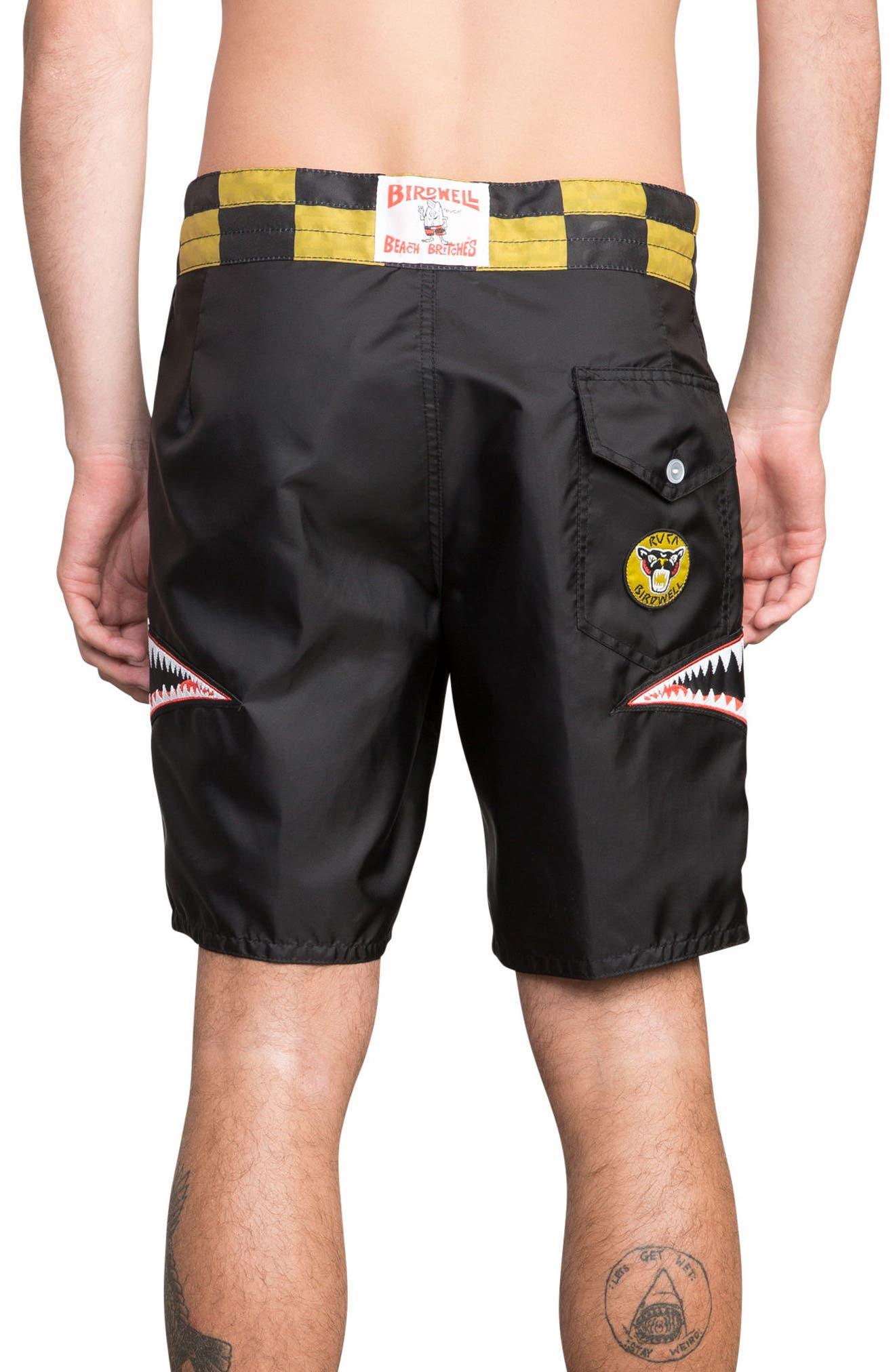 x Birdwell Squadron Board Shorts,                             Alternate thumbnail 2, color,                             Black