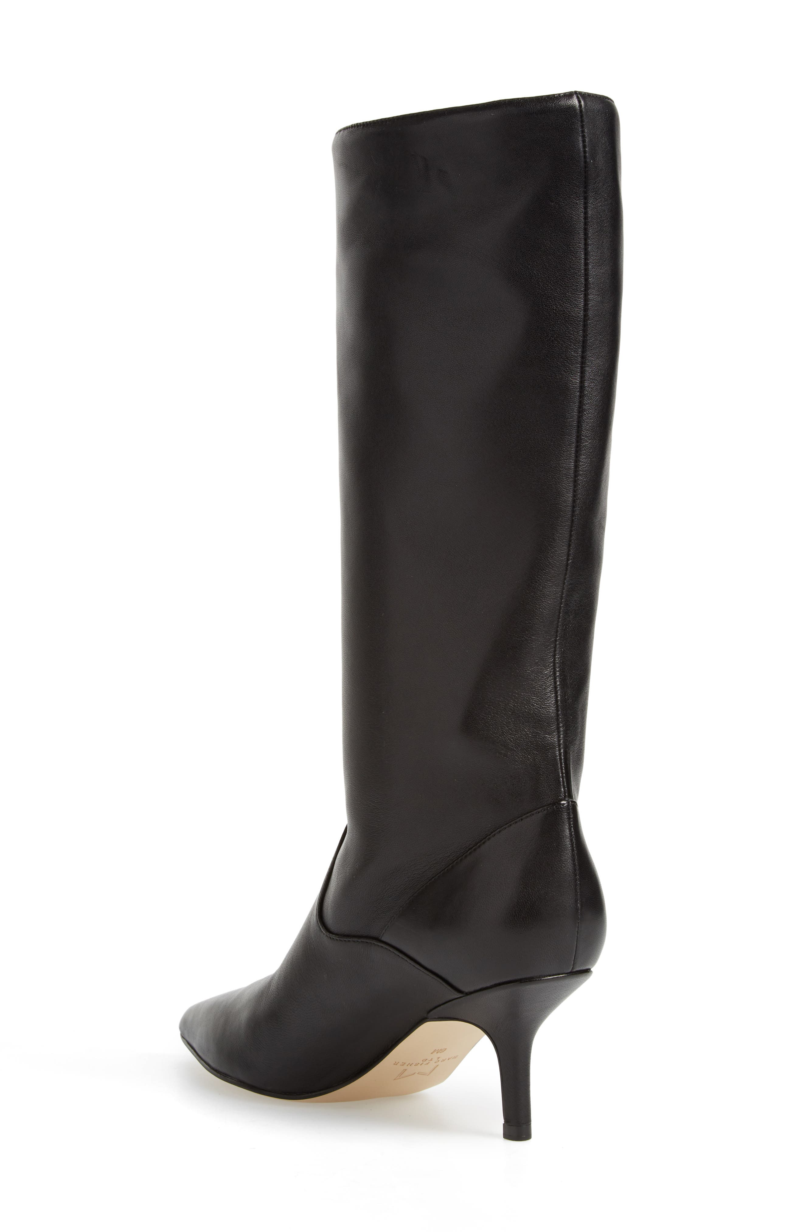 Dacey Boot,                             Alternate thumbnail 2, color,                             Black Leather