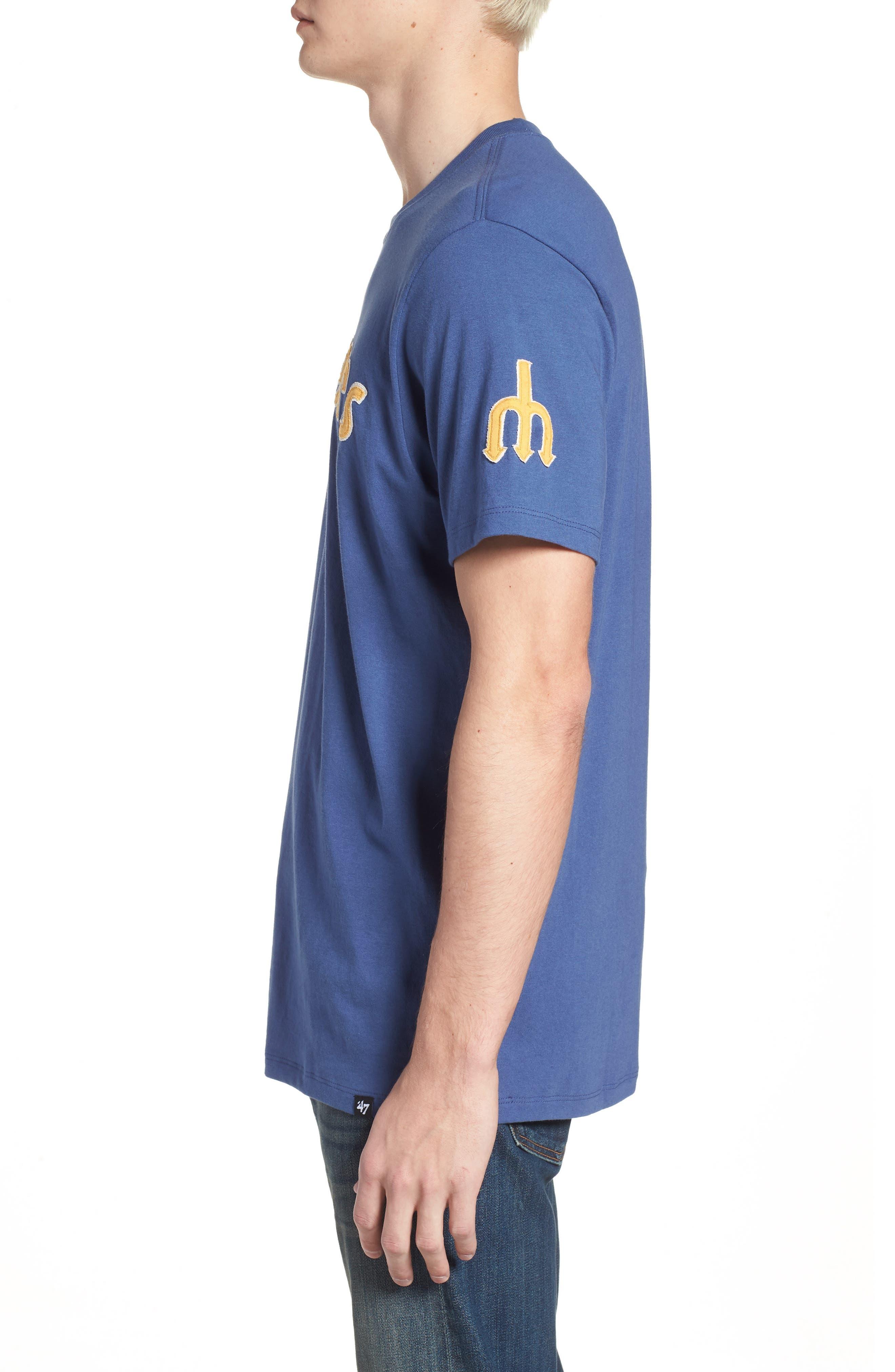 MLB Vintage Fieldhouse Seattle Mariners T-Shirt,                             Alternate thumbnail 3, color,                             Bleacher Blue