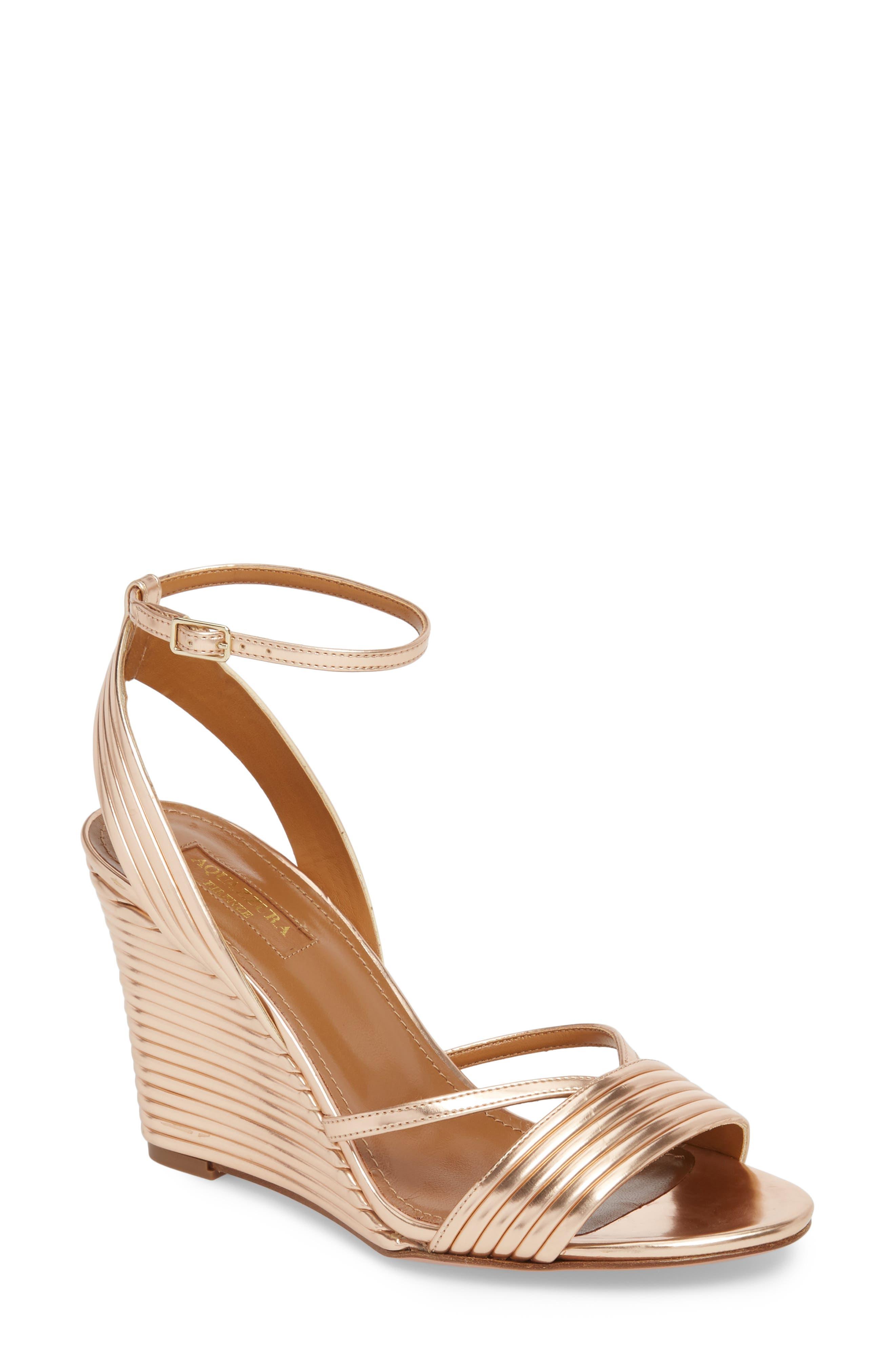 Sundance Wedge Sandal,                         Main,                         color, Cipria