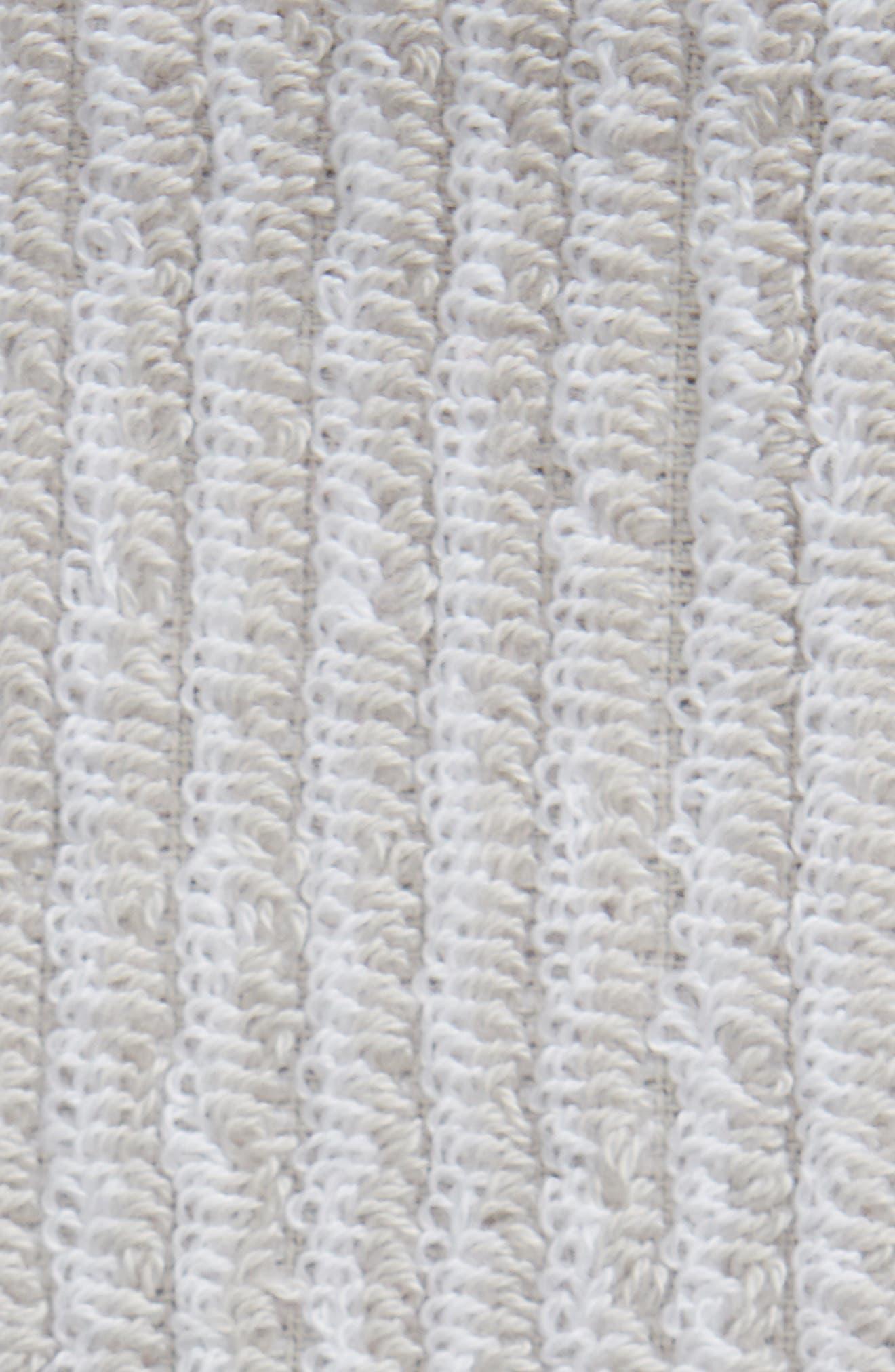 Ezra Stripe Washcloth,                             Alternate thumbnail 2, color,                             Grey Vapor