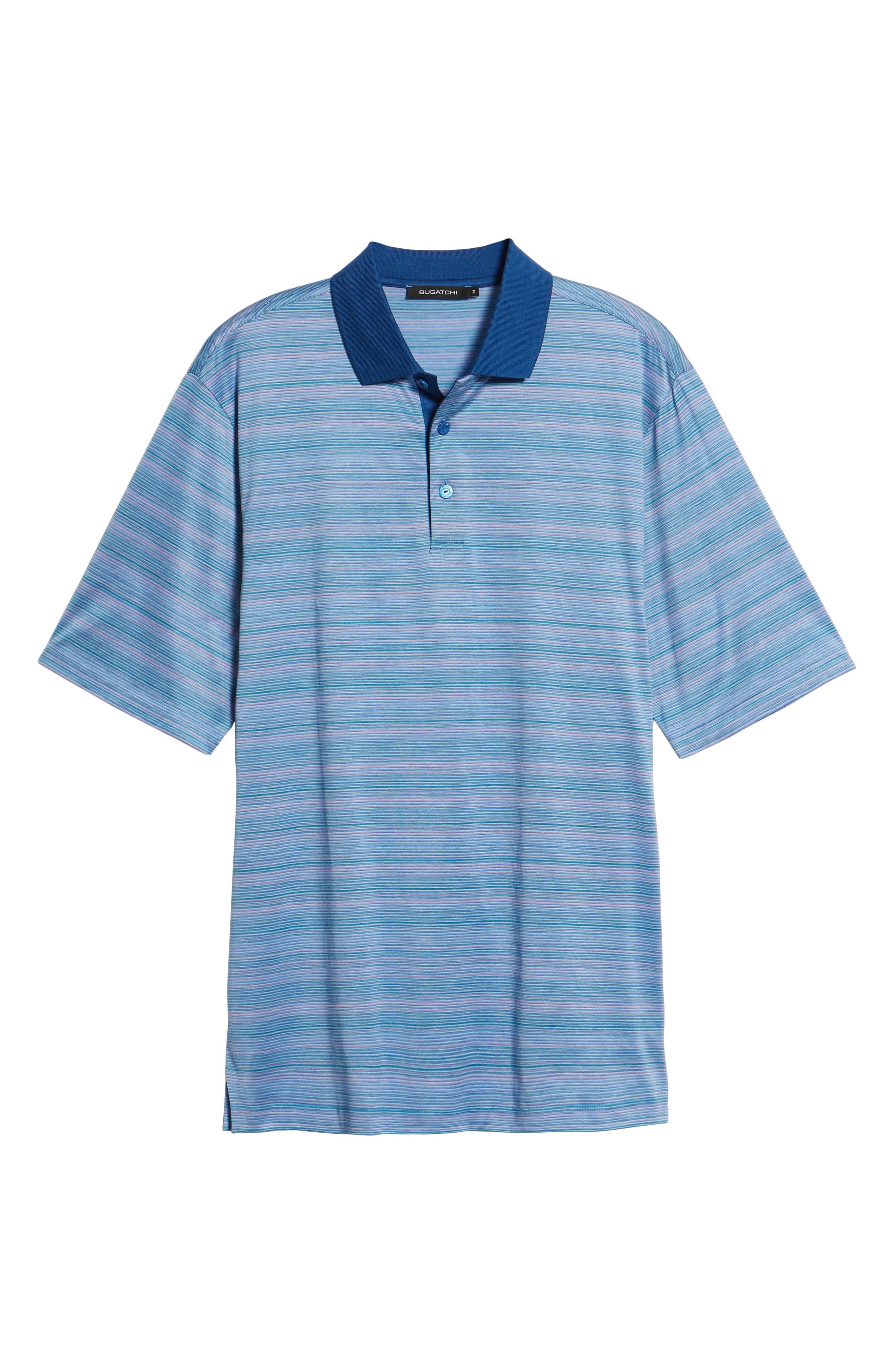 Stripe Mercerized Cotton Polo,                             Alternate thumbnail 6, color,                             Orchid