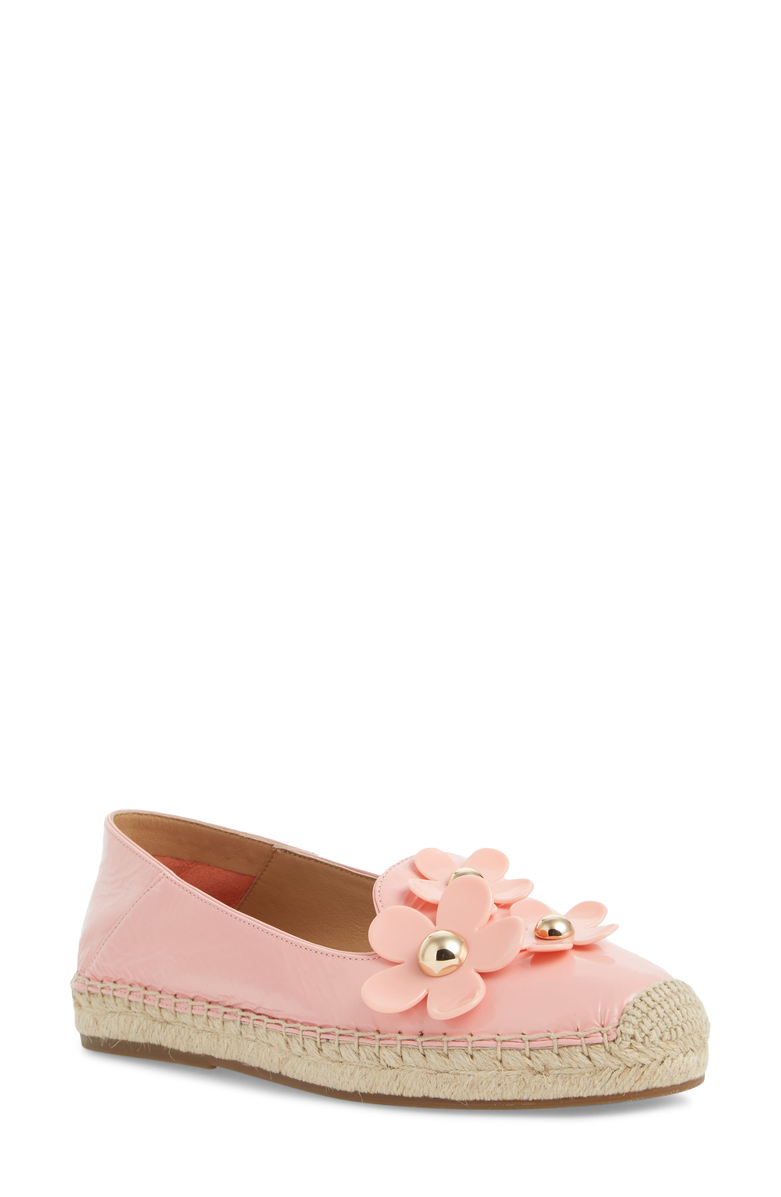 Daisy Studded Espadrille in Light Pink