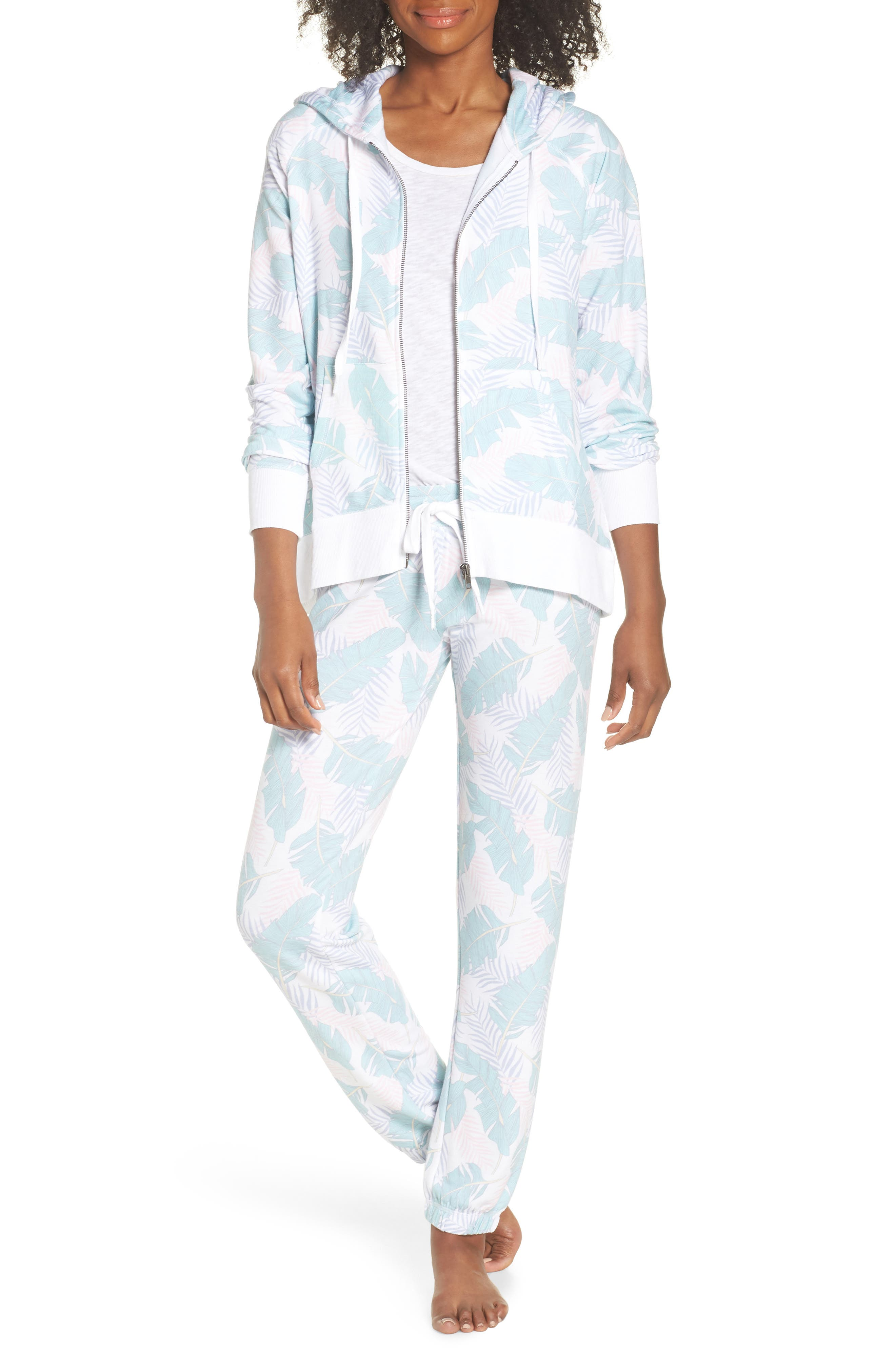Peachy Jogger Lounge Pants,                             Alternate thumbnail 5, color,                             White