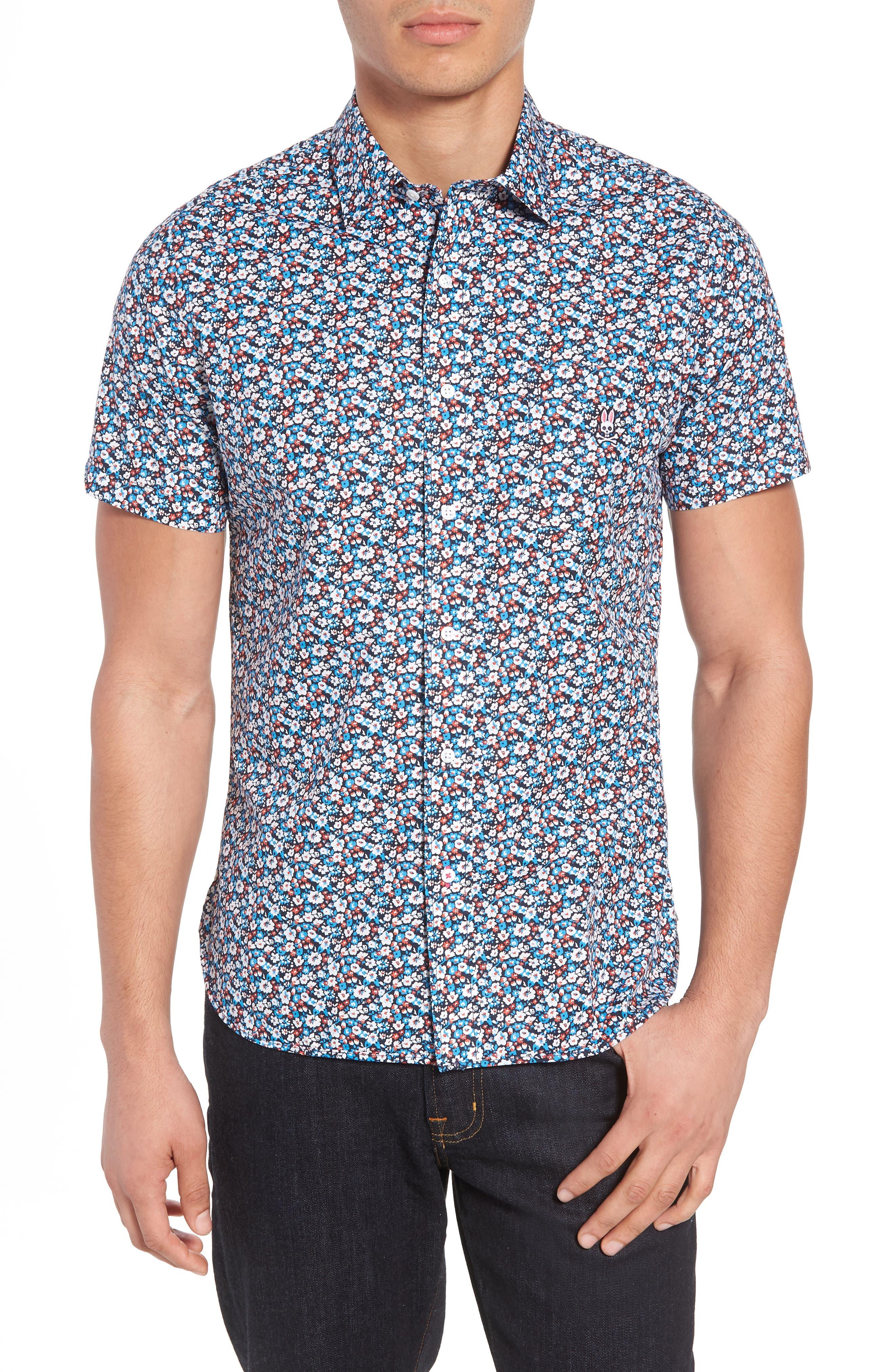 Woven Shirt,                         Main,                         color, Navy