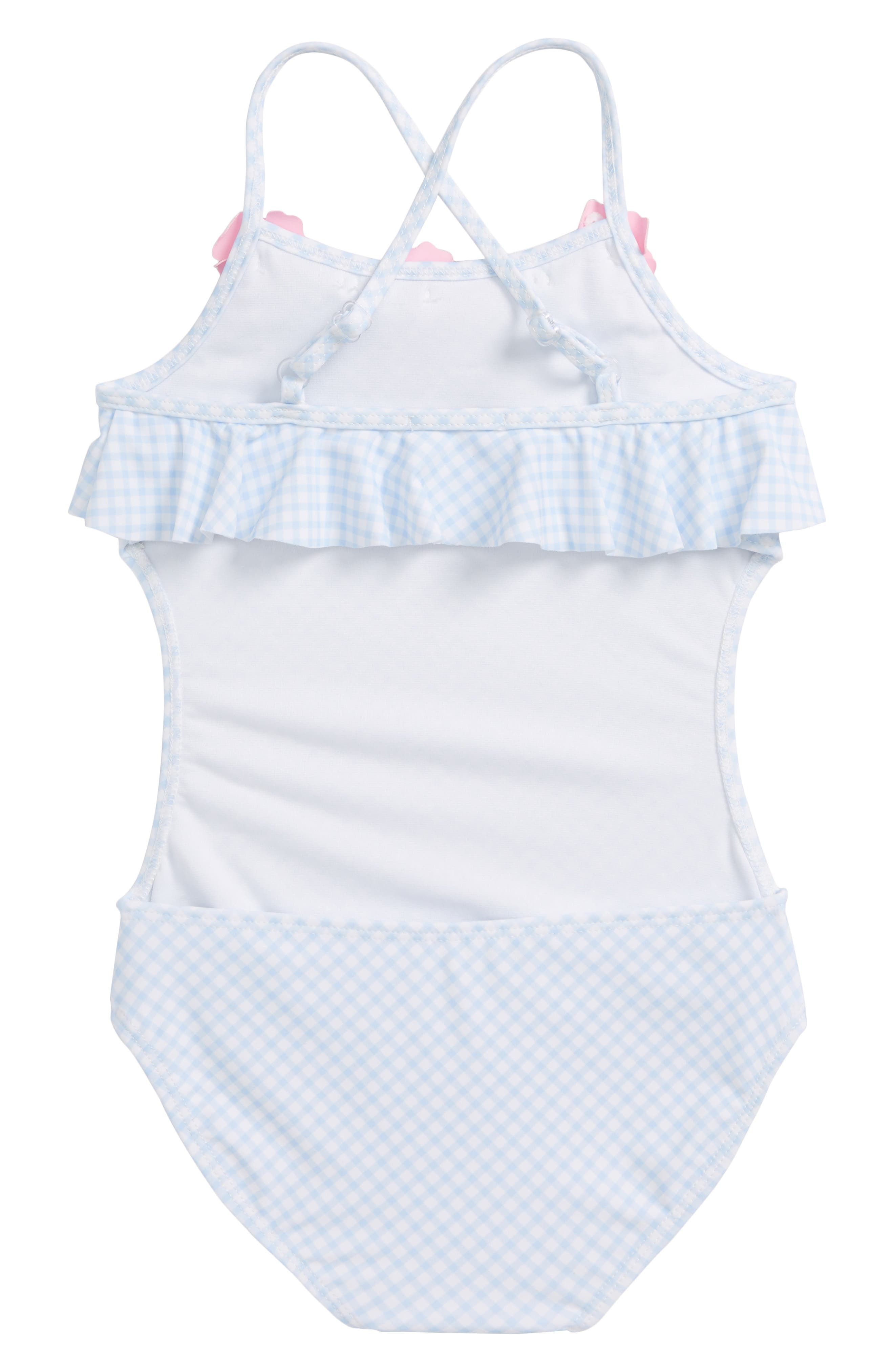 Alternate Image 2  - Kate Mack Gingham One-Piece Swimsuit (Toddler Girls & Little Girls)