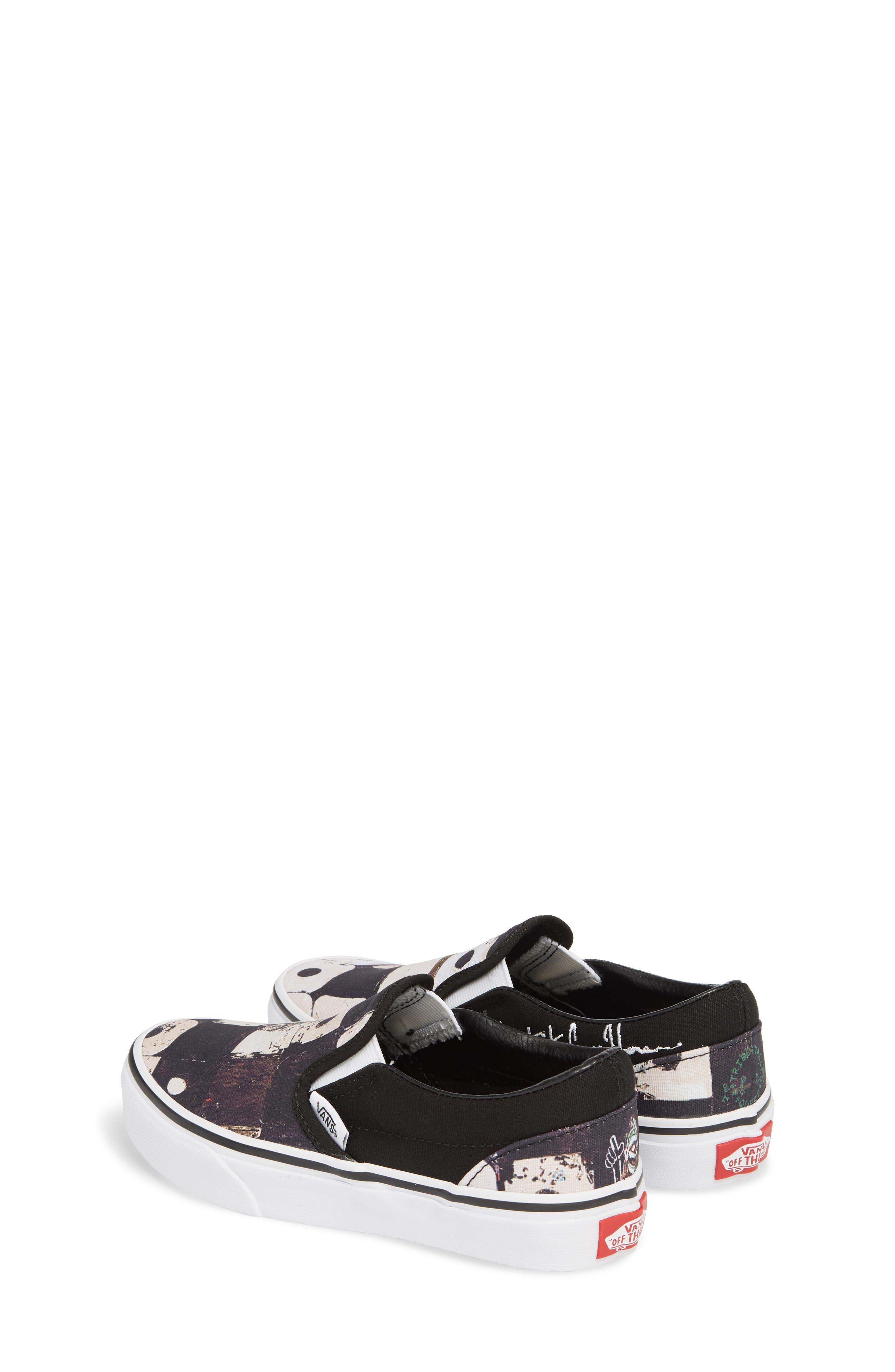 'Classic' Slip-On Sneaker,                             Alternate thumbnail 2, color,                             Black