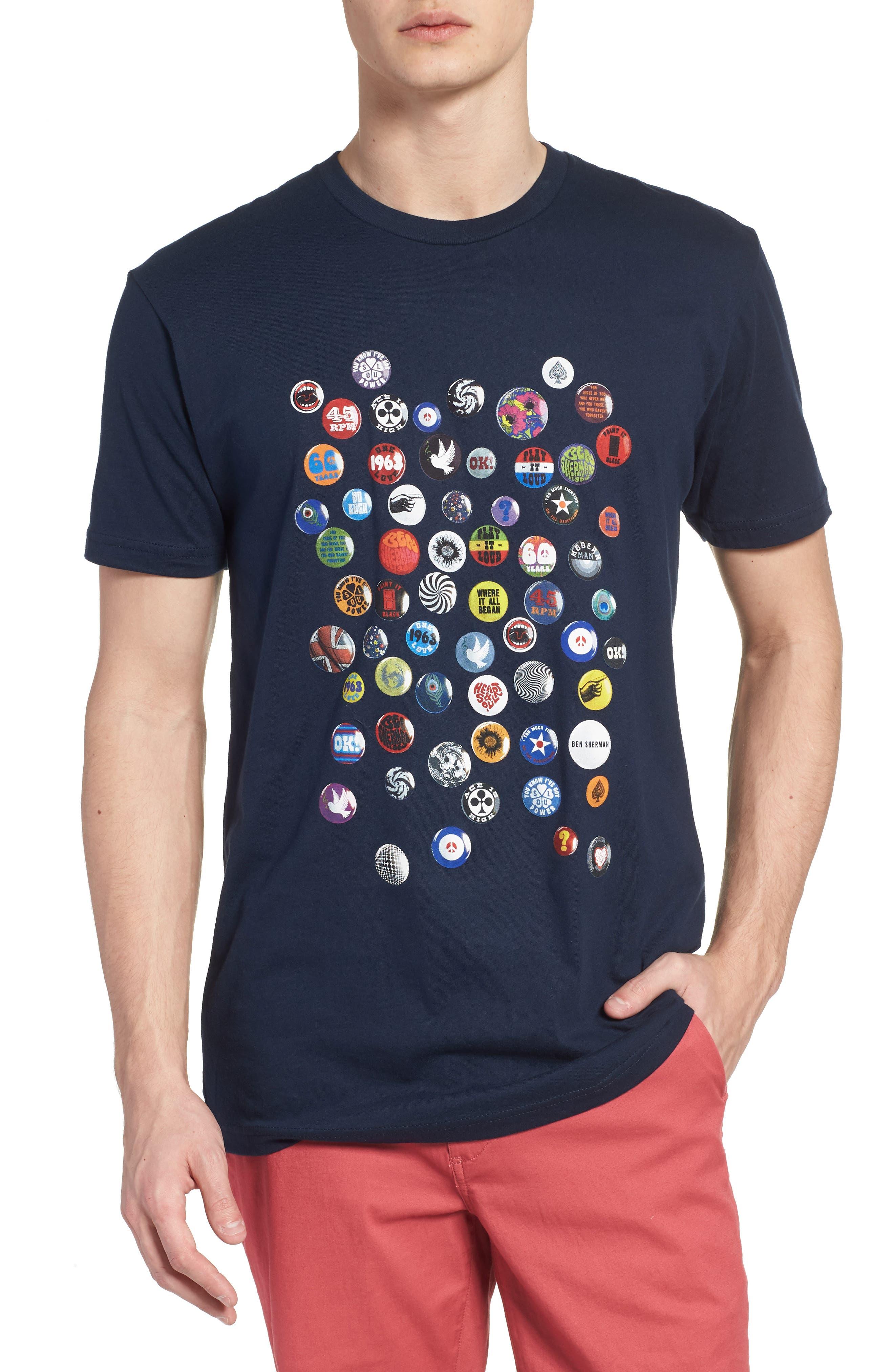 Ben Sherman Pin Badge Crewneck T-Shirt