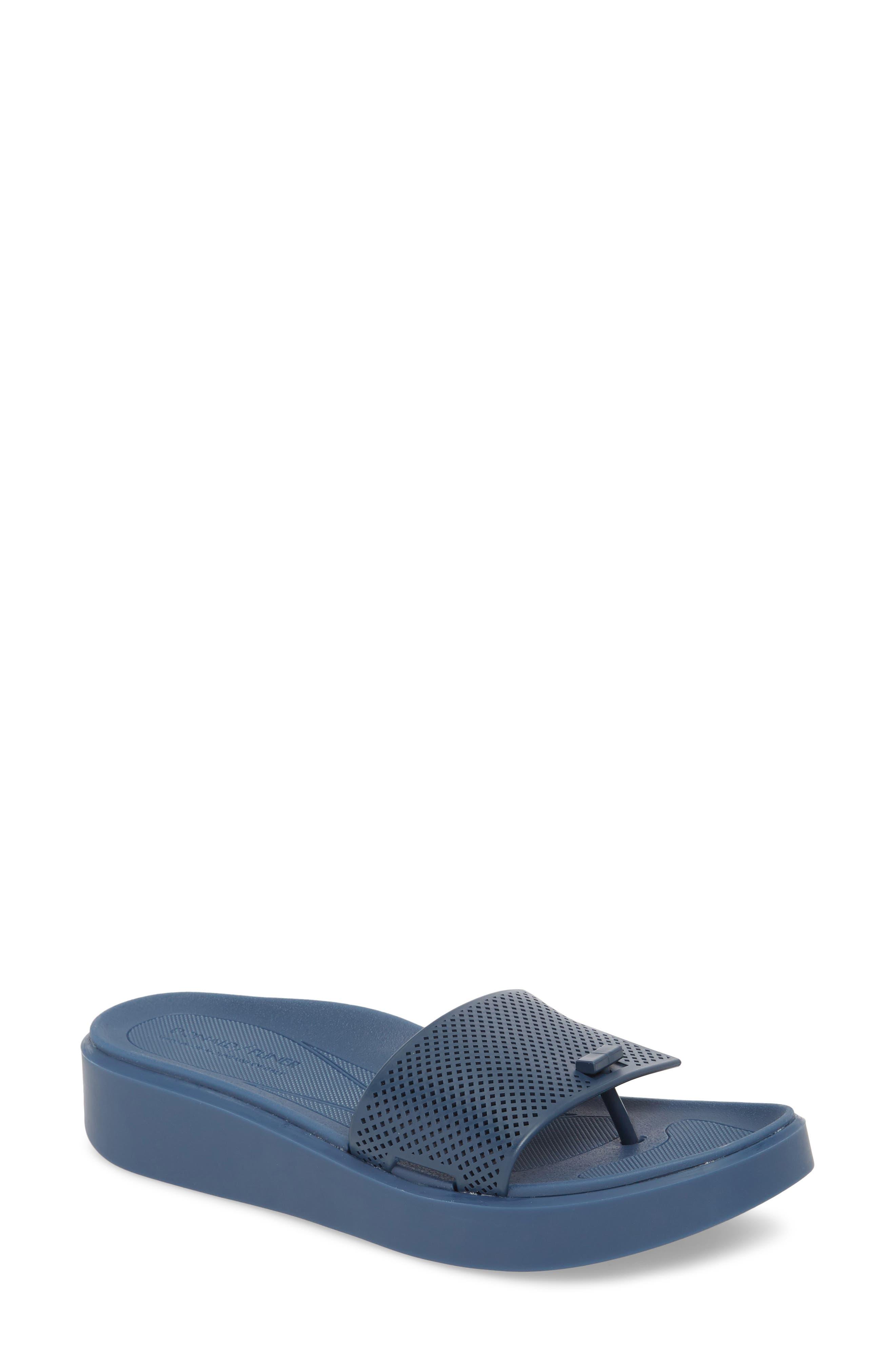 Bondi Jelly Slide Sandal,                             Main thumbnail 1, color,                             Navy