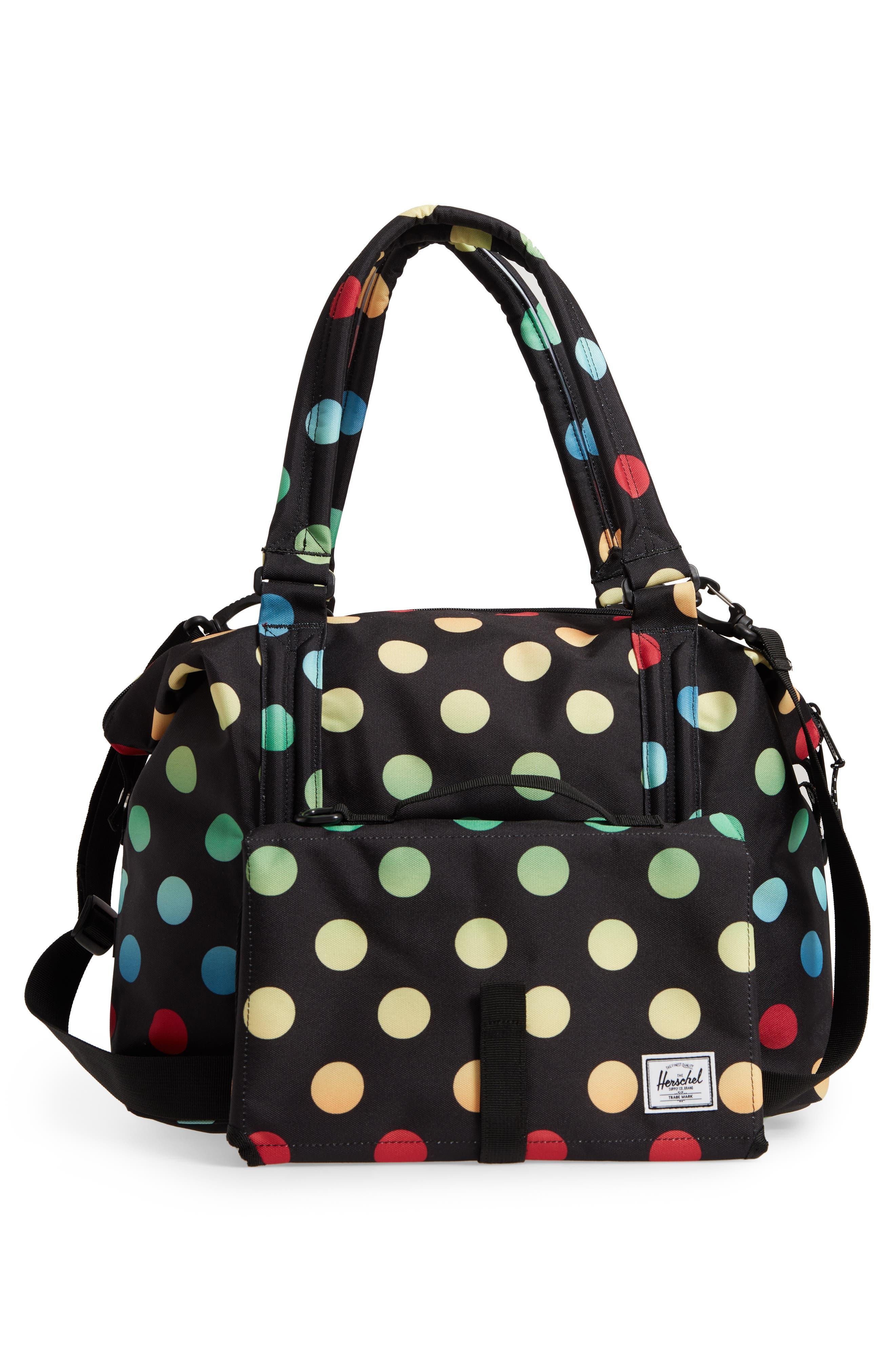 Sprout Diaper Bag,                             Alternate thumbnail 5, color,                             Black Rainbow