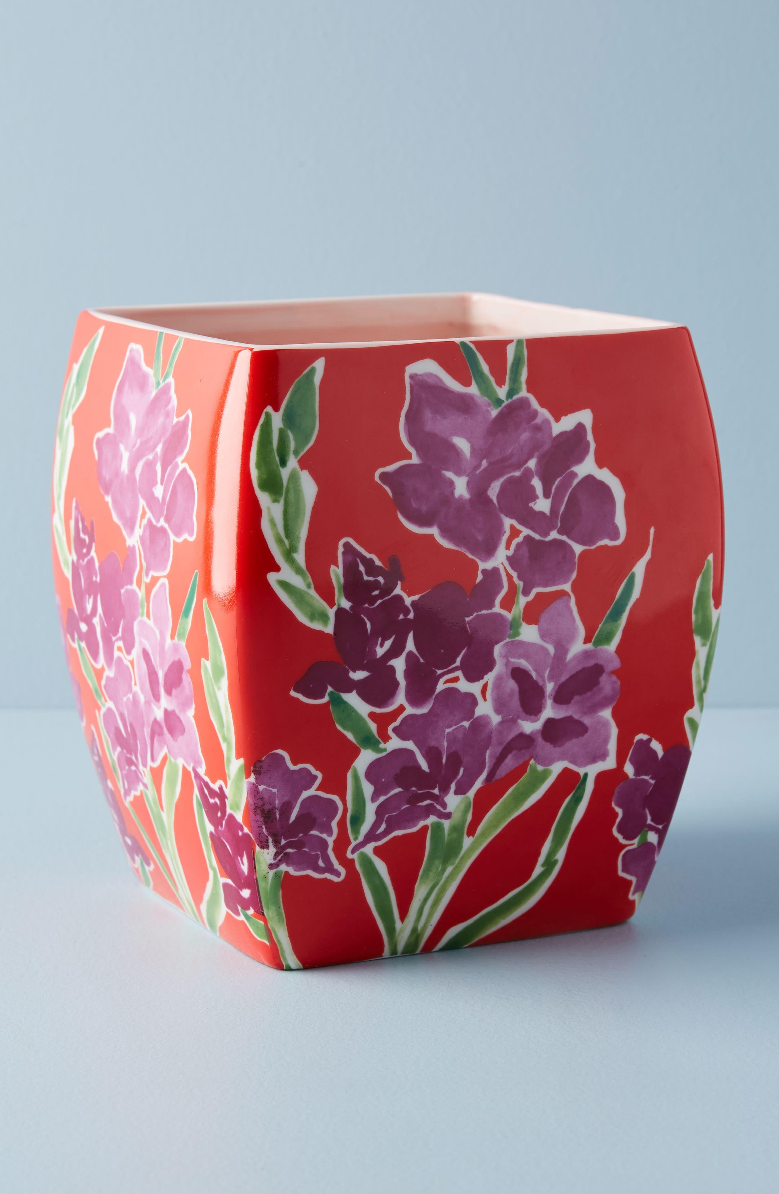 Sisters Gulassa Floral Pot,                             Main thumbnail 1, color,                             Red