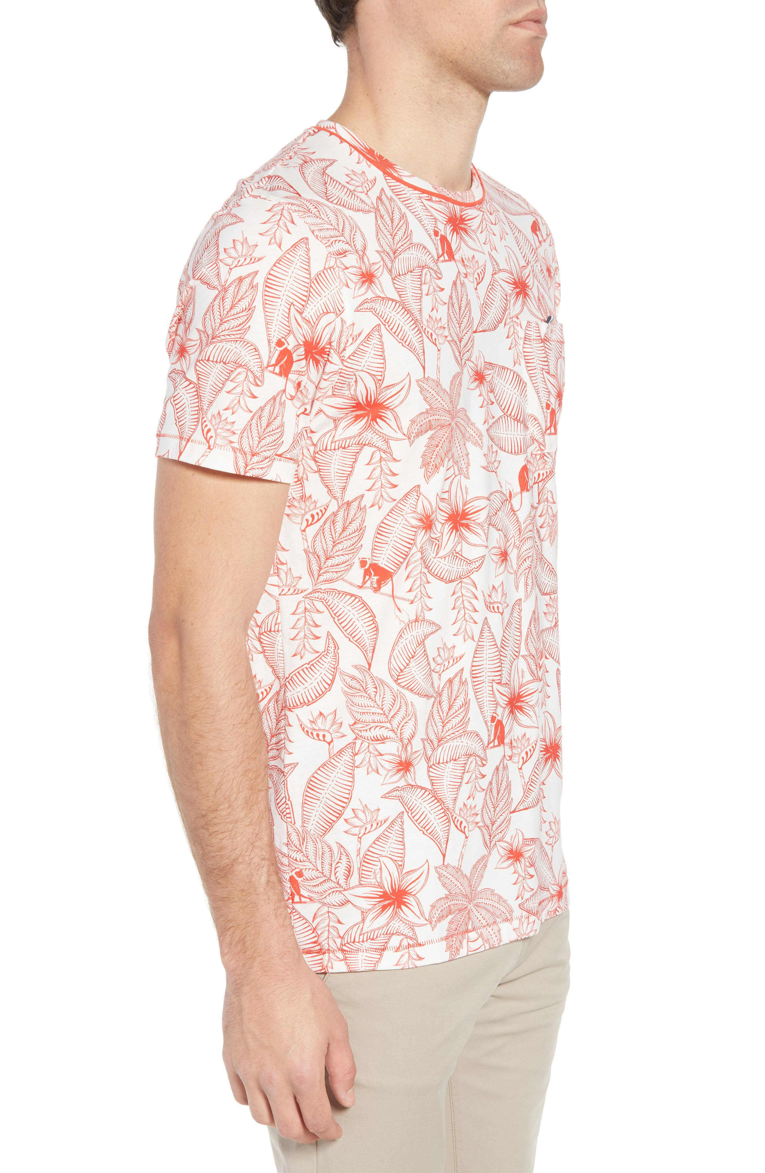Bengel Crewneck T-Shirt,                             Alternate thumbnail 3, color,                             Red