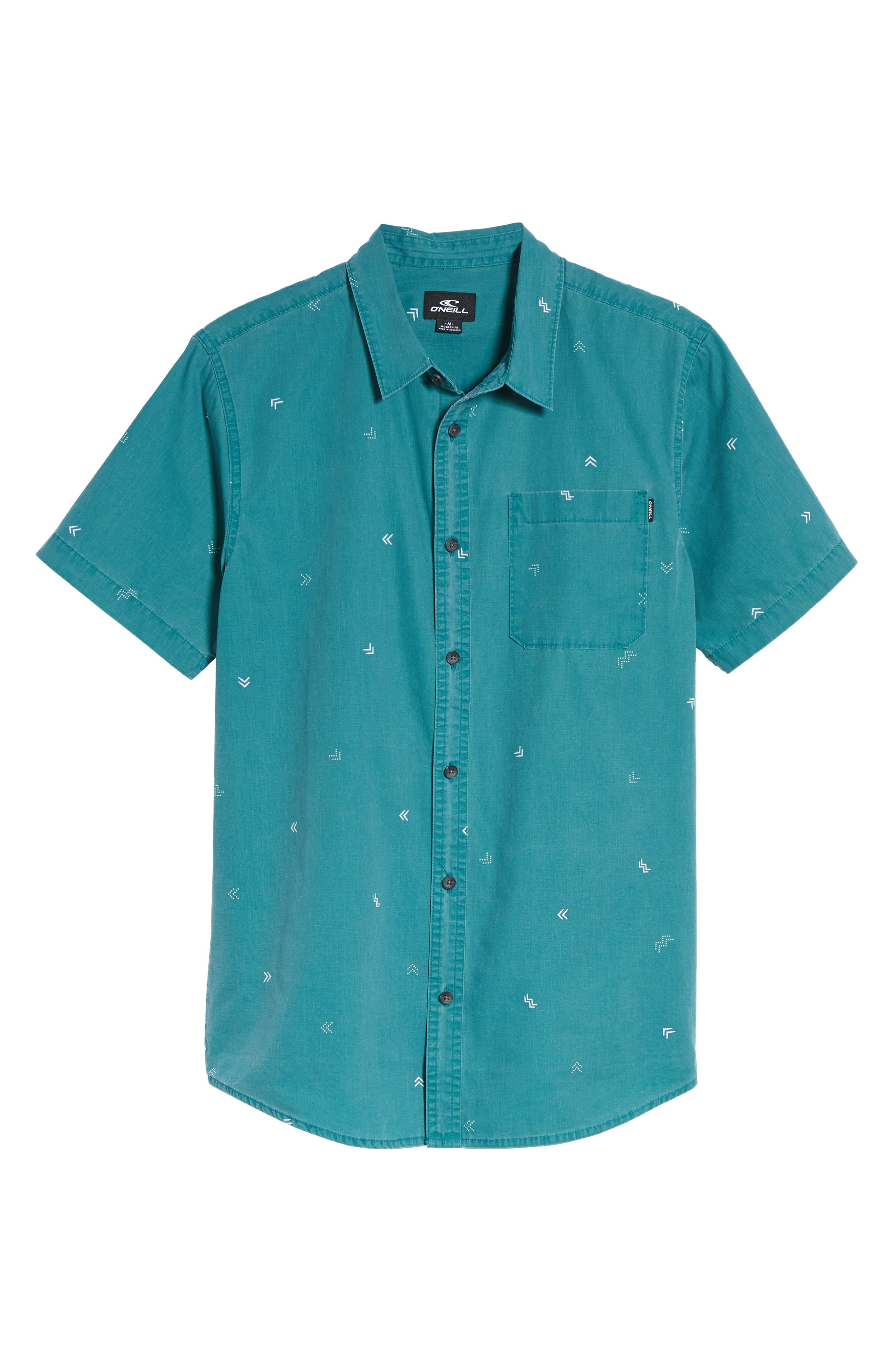 Kruger Woven Shirt,                             Alternate thumbnail 6, color,                             Jade