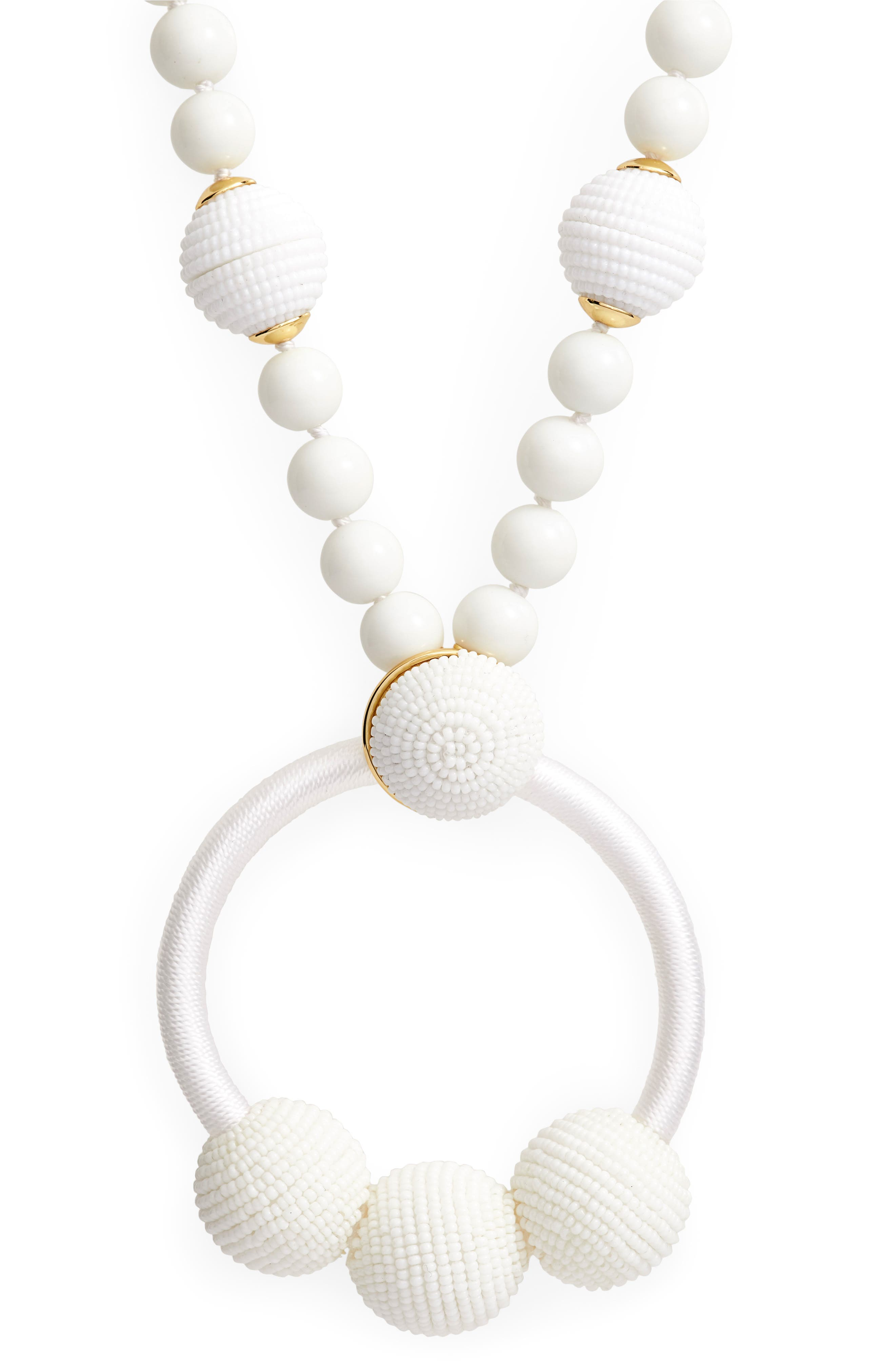 the bead goes on pendant necklace,                             Alternate thumbnail 2, color,                             White