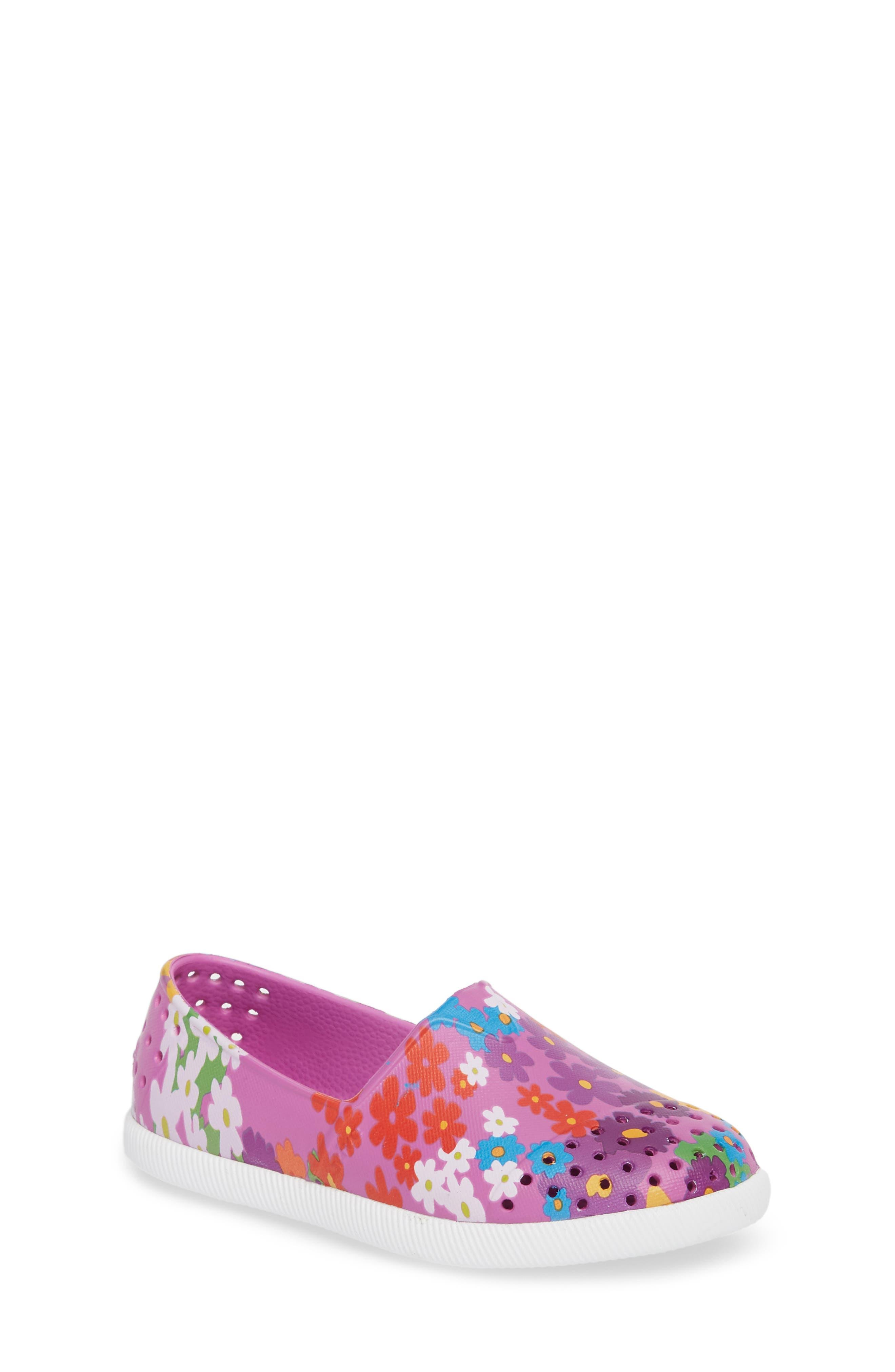Verona Perforated Slip-On,                             Main thumbnail 1, color,                             Peace Purple/ White/ Daisy