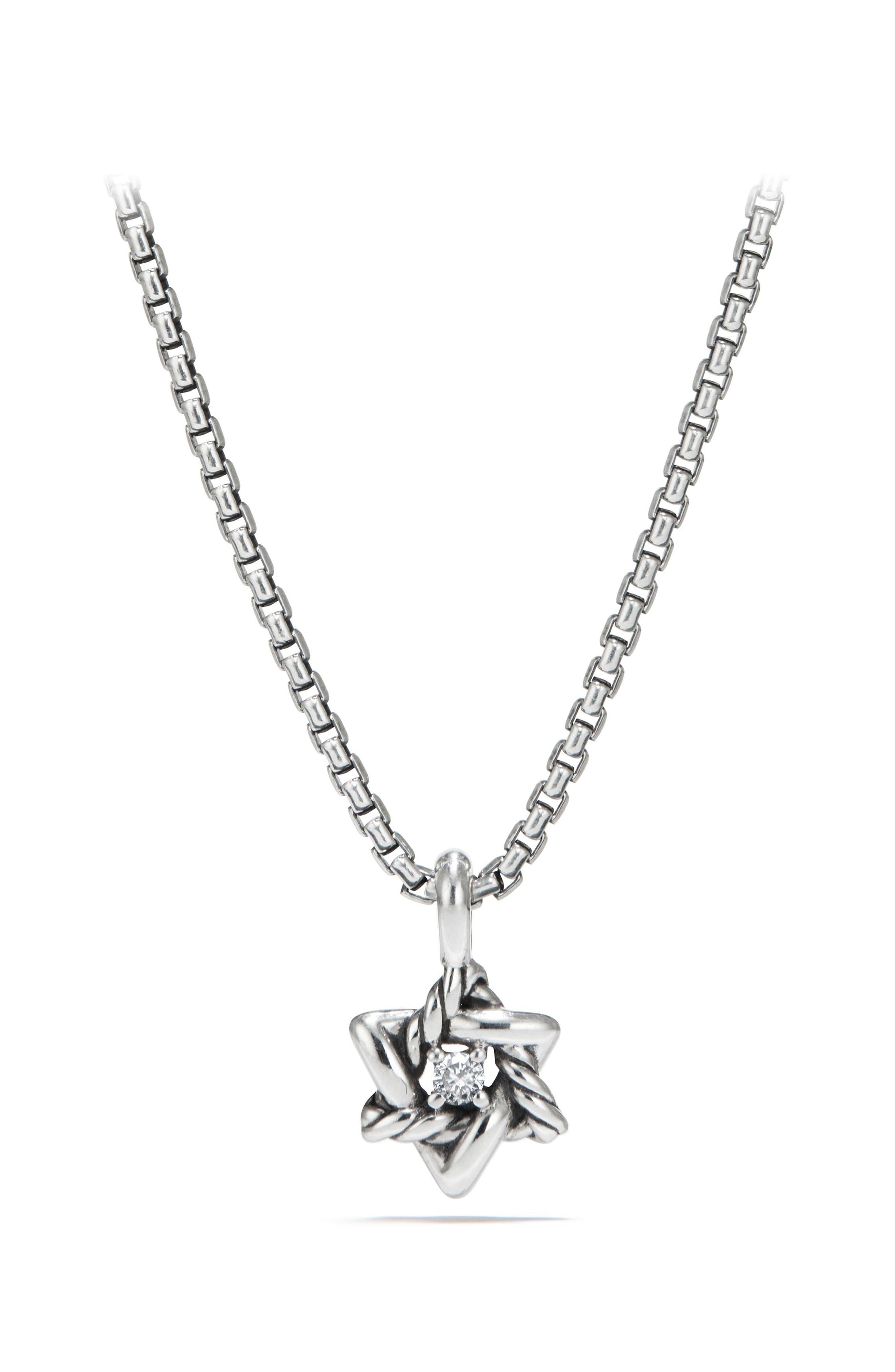 Main Image - David Yurman Cable Collectibles® Kids' Star of David Necklace with Diamonds (Girls)
