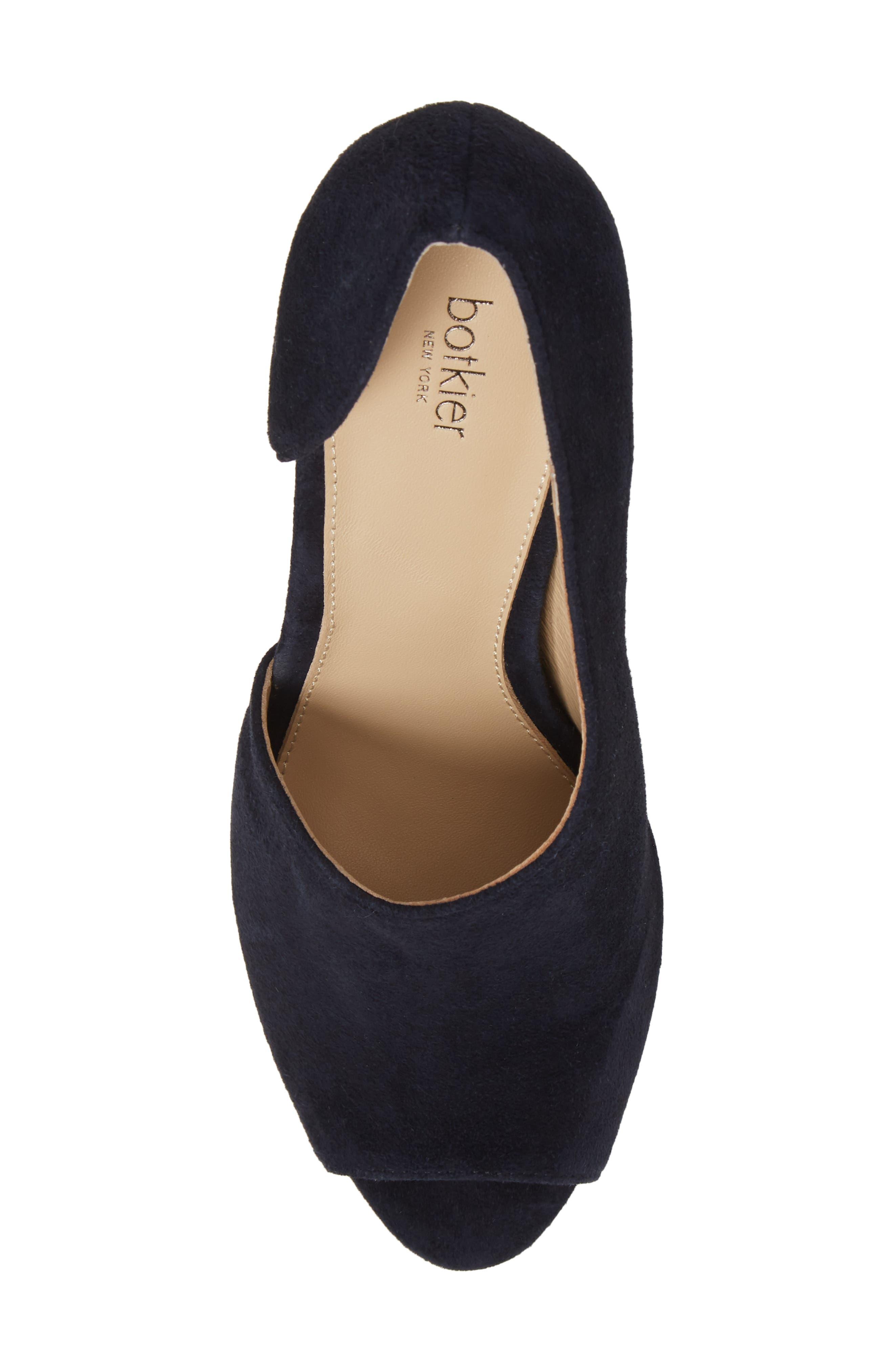 Adelia Asymmetrical Sandal,                             Alternate thumbnail 5, color,                             Navy Suede