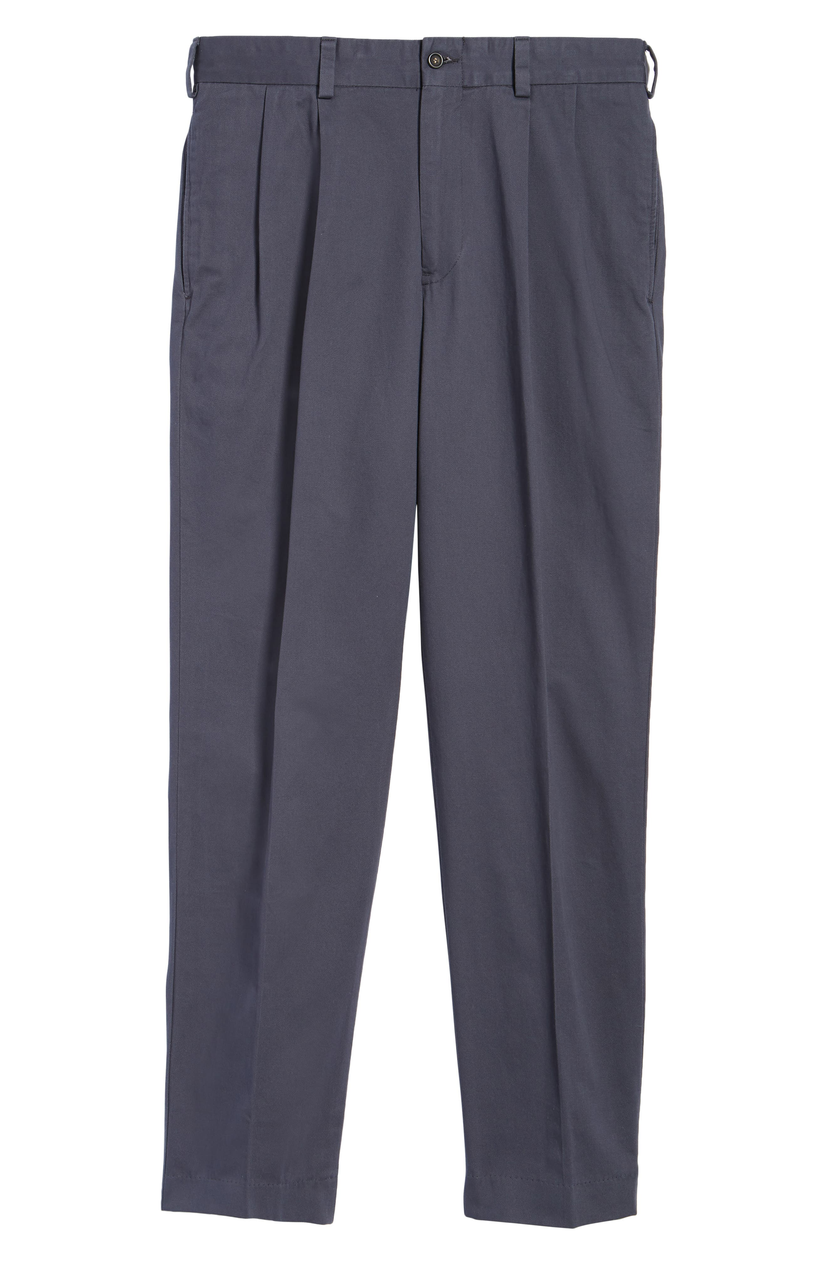 M2 Classic Fit Vintage Twill Pleated Pants,                             Alternate thumbnail 6, color,                             Navy