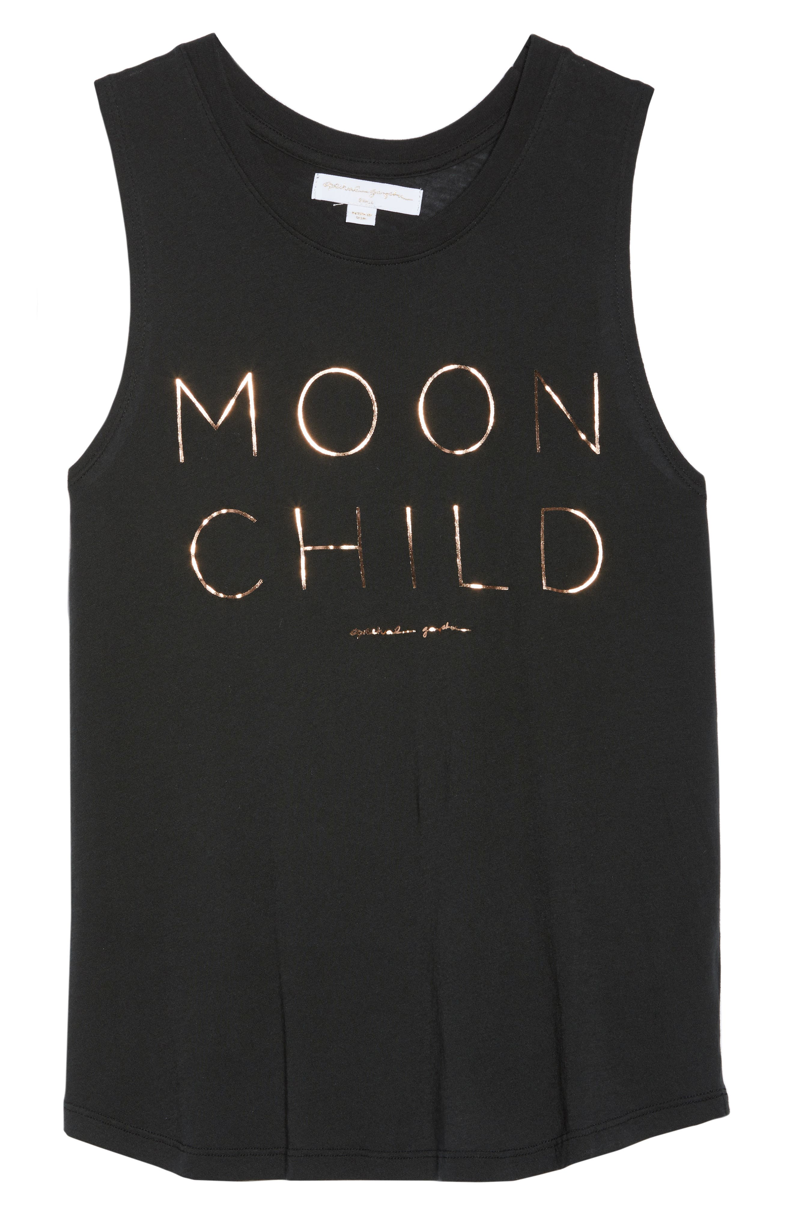 Moon Child Tank,                             Alternate thumbnail 6, color,                             Vntg Black