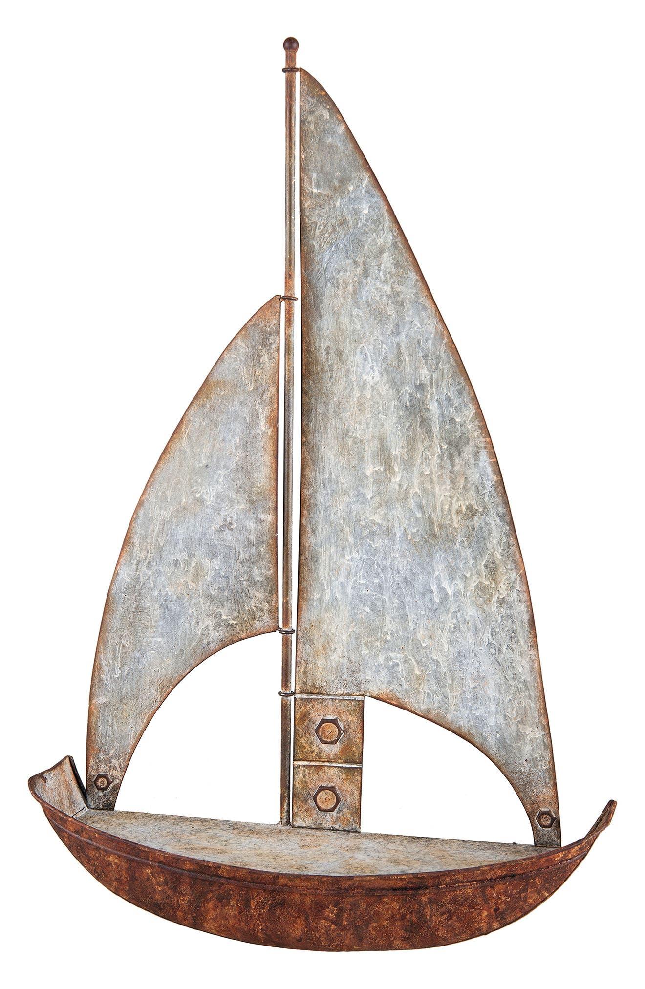 Sailboat Shelf,                             Main thumbnail 1, color,                             Metal