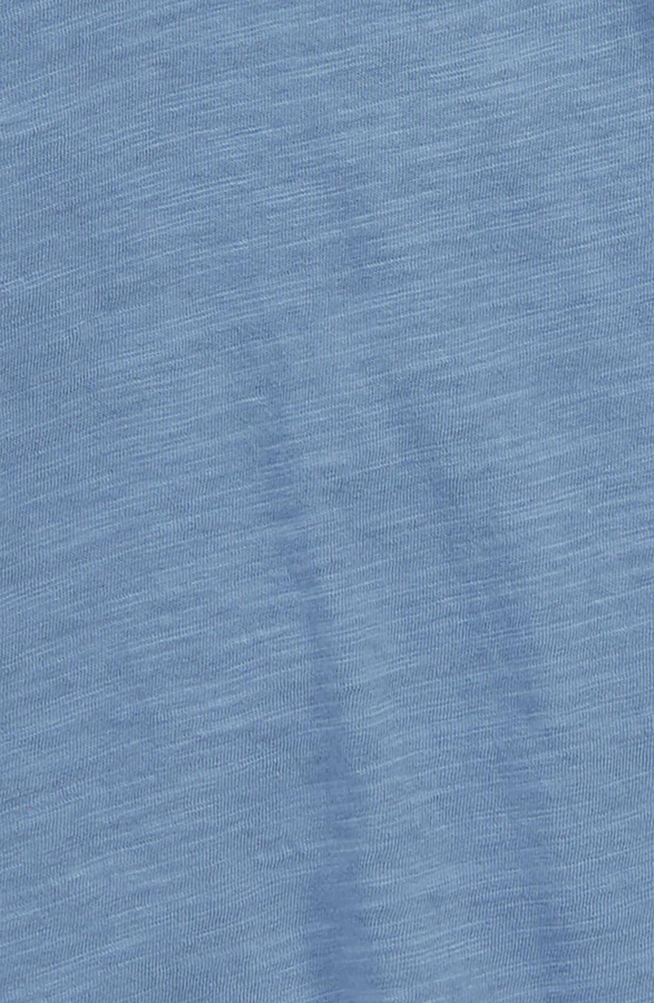 Short Sleeve Cotton T-Shirt,                             Alternate thumbnail 2, color,                             Blue Moonlight