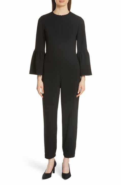 da26ca5c39b9d Tibi Bell Cuff Structured Crepe Jumpsuit