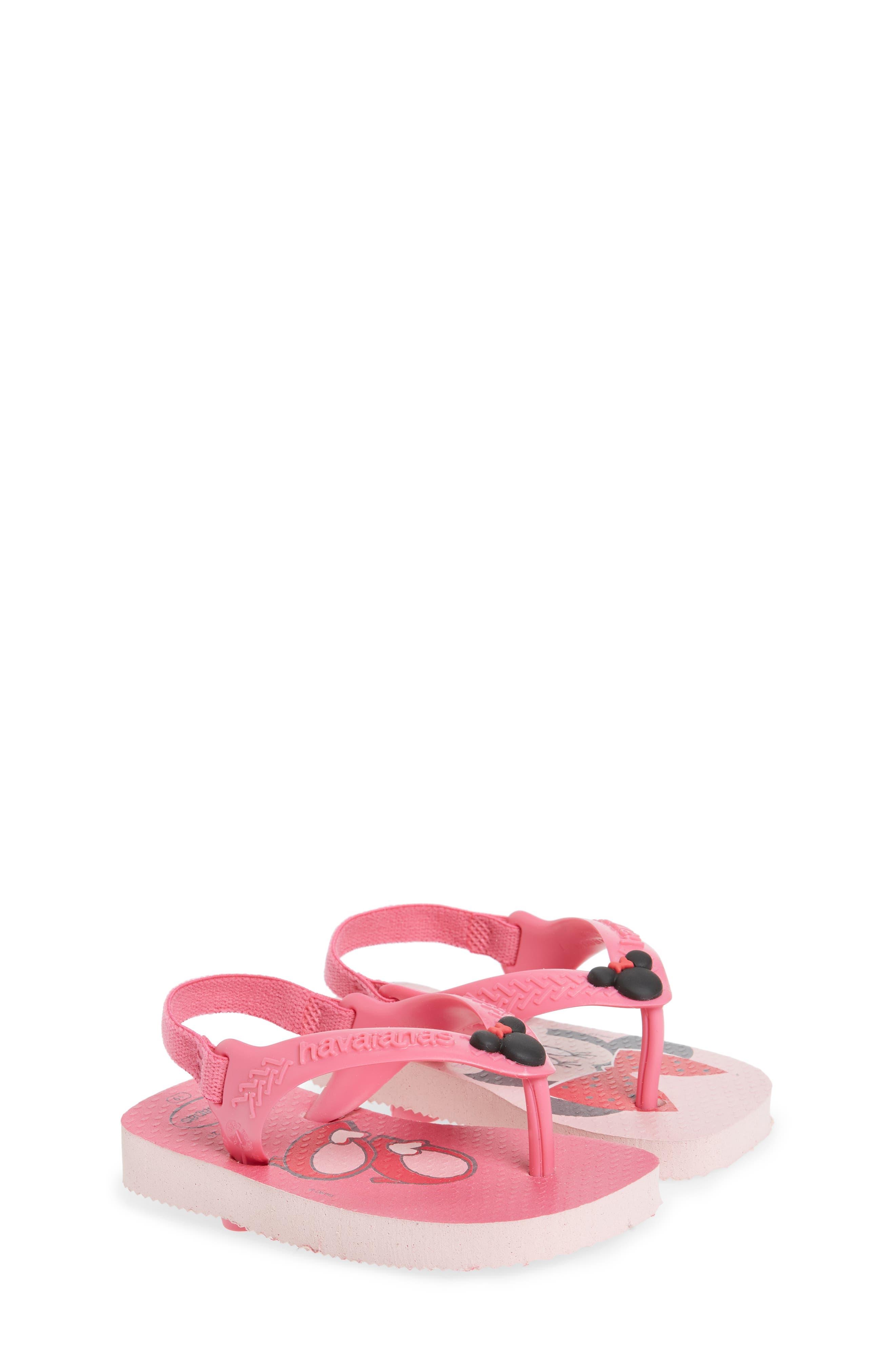 Baby Disney Classics Flip Flop,                             Alternate thumbnail 3, color,                             Pearl Pink
