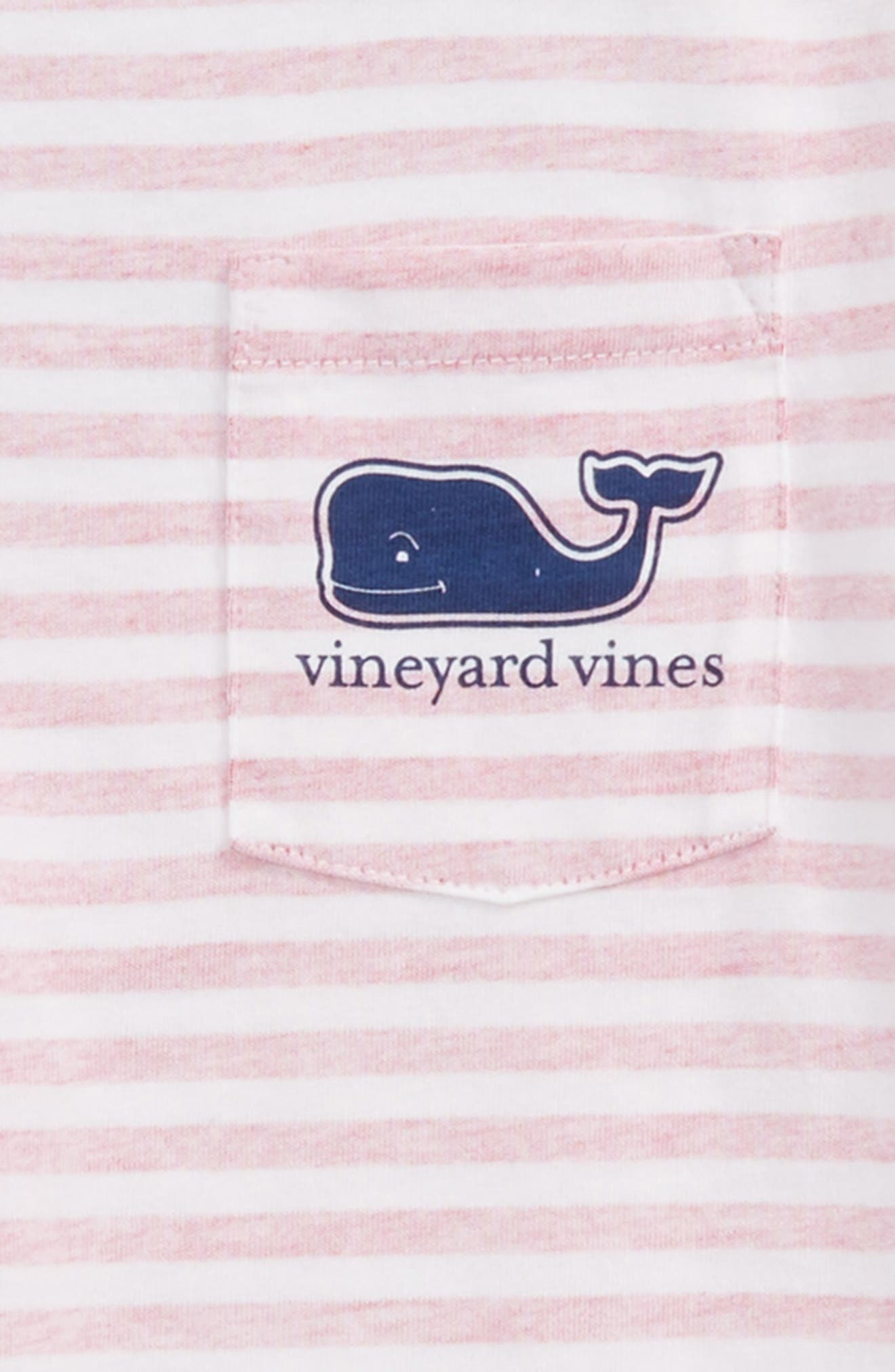 Stripe Whale Pocket Tee,                             Alternate thumbnail 3, color,                             Rhododendron