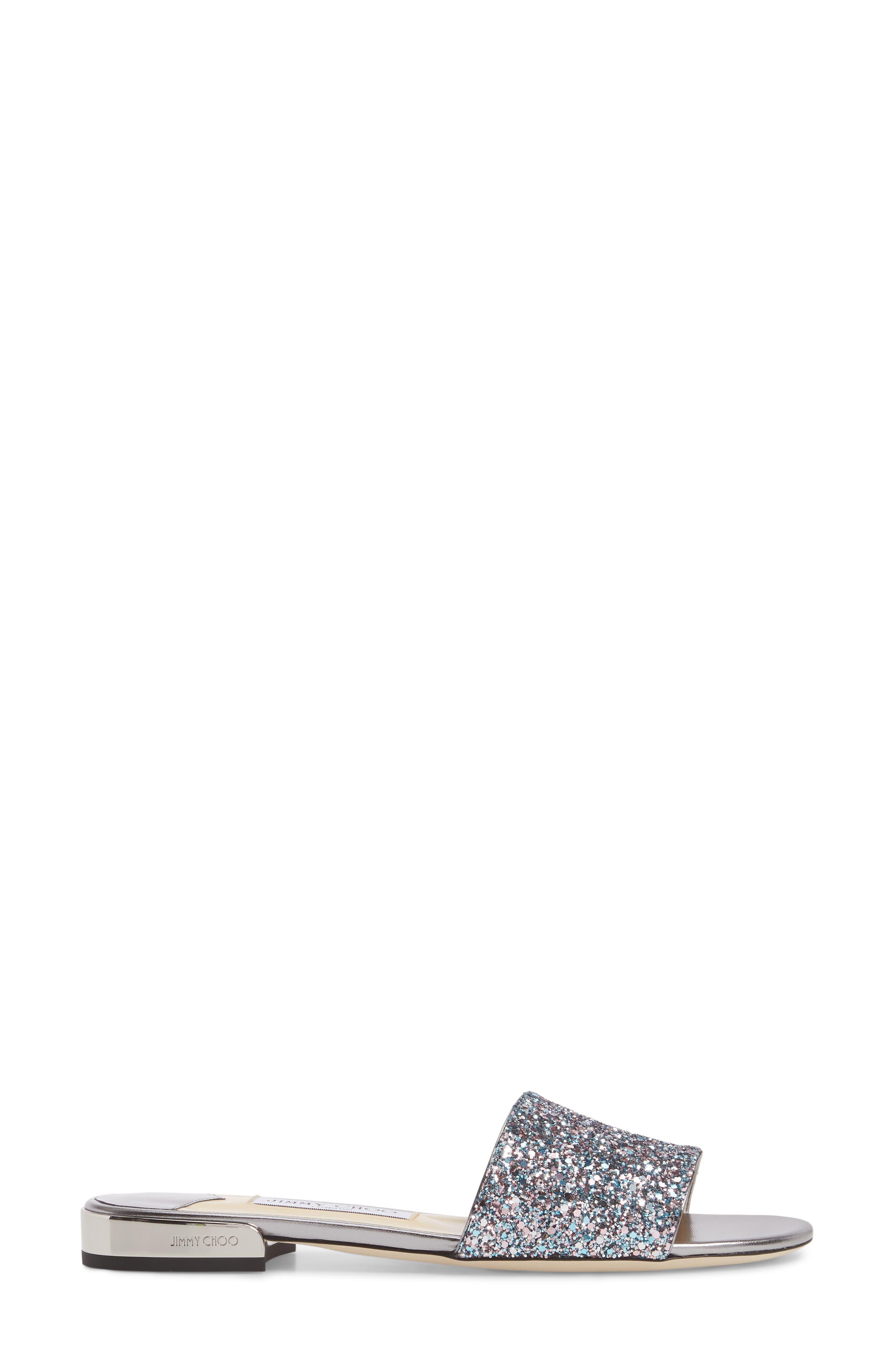 Joni Embellished Slide Sandal,                             Alternate thumbnail 3, color,                             Blush Silver