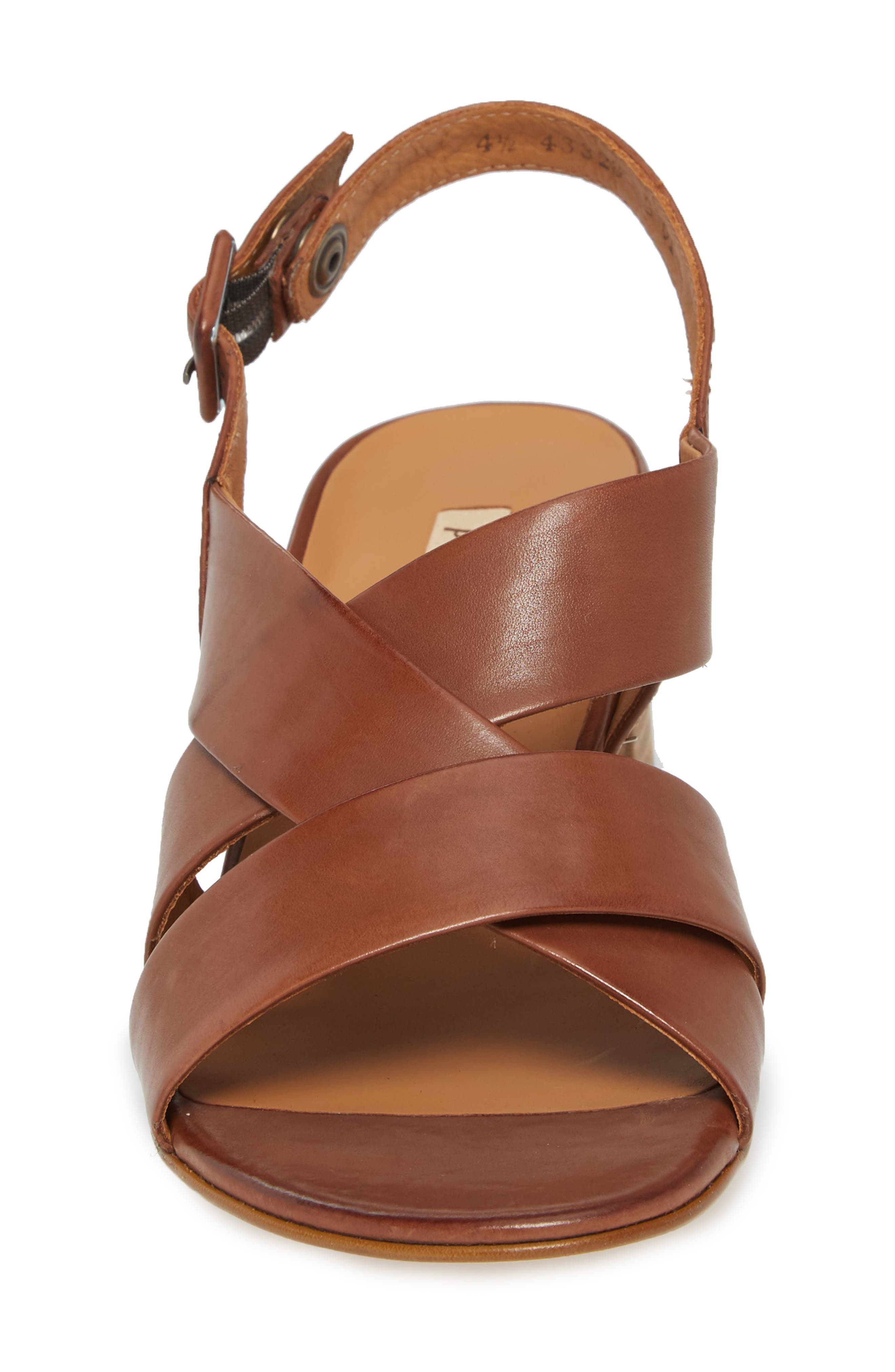 Reese Slingback Sandal,                             Alternate thumbnail 4, color,                             Nougat Leather