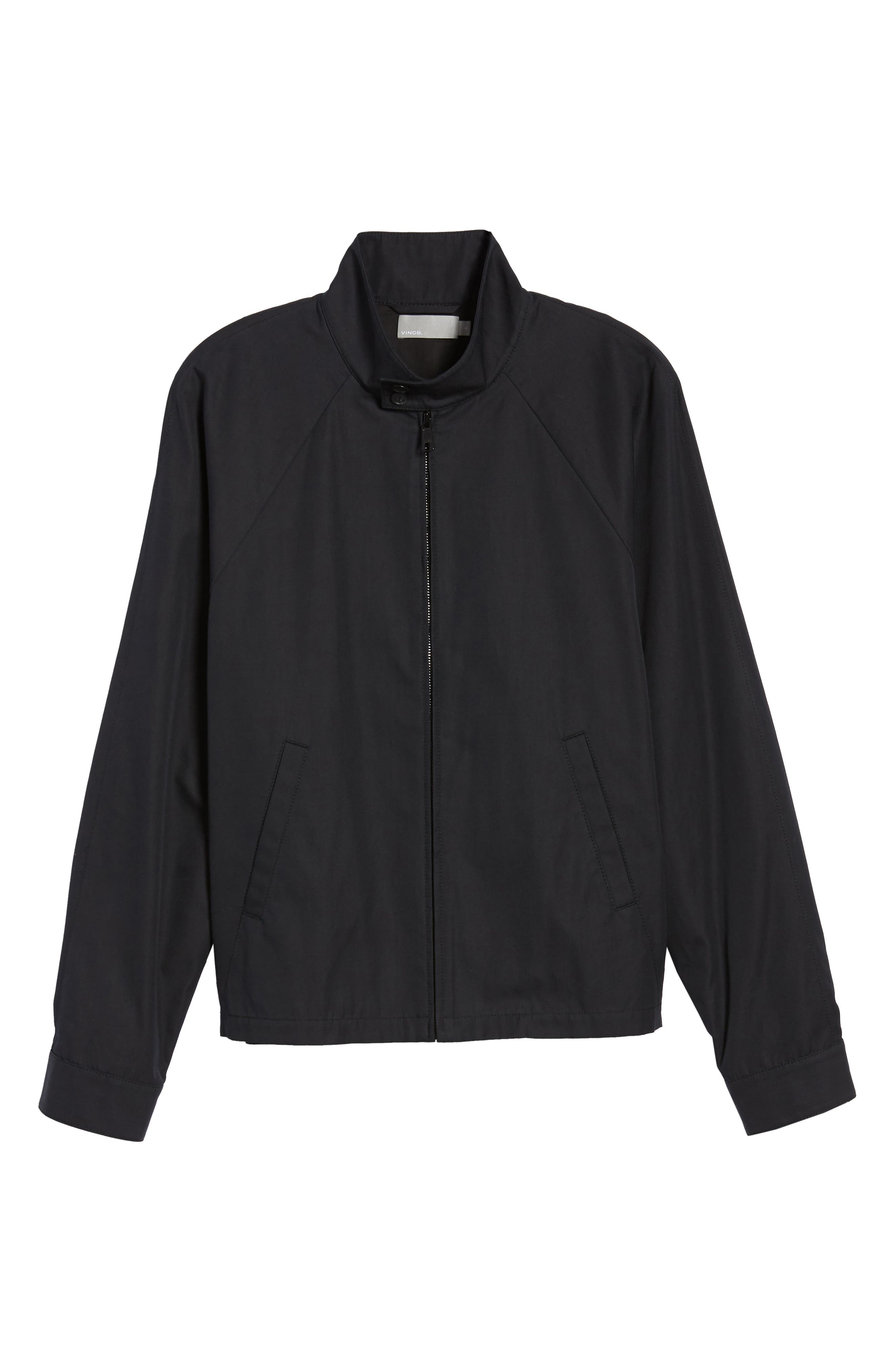 Regular Fit Jacket,                             Alternate thumbnail 6, color,                             Black