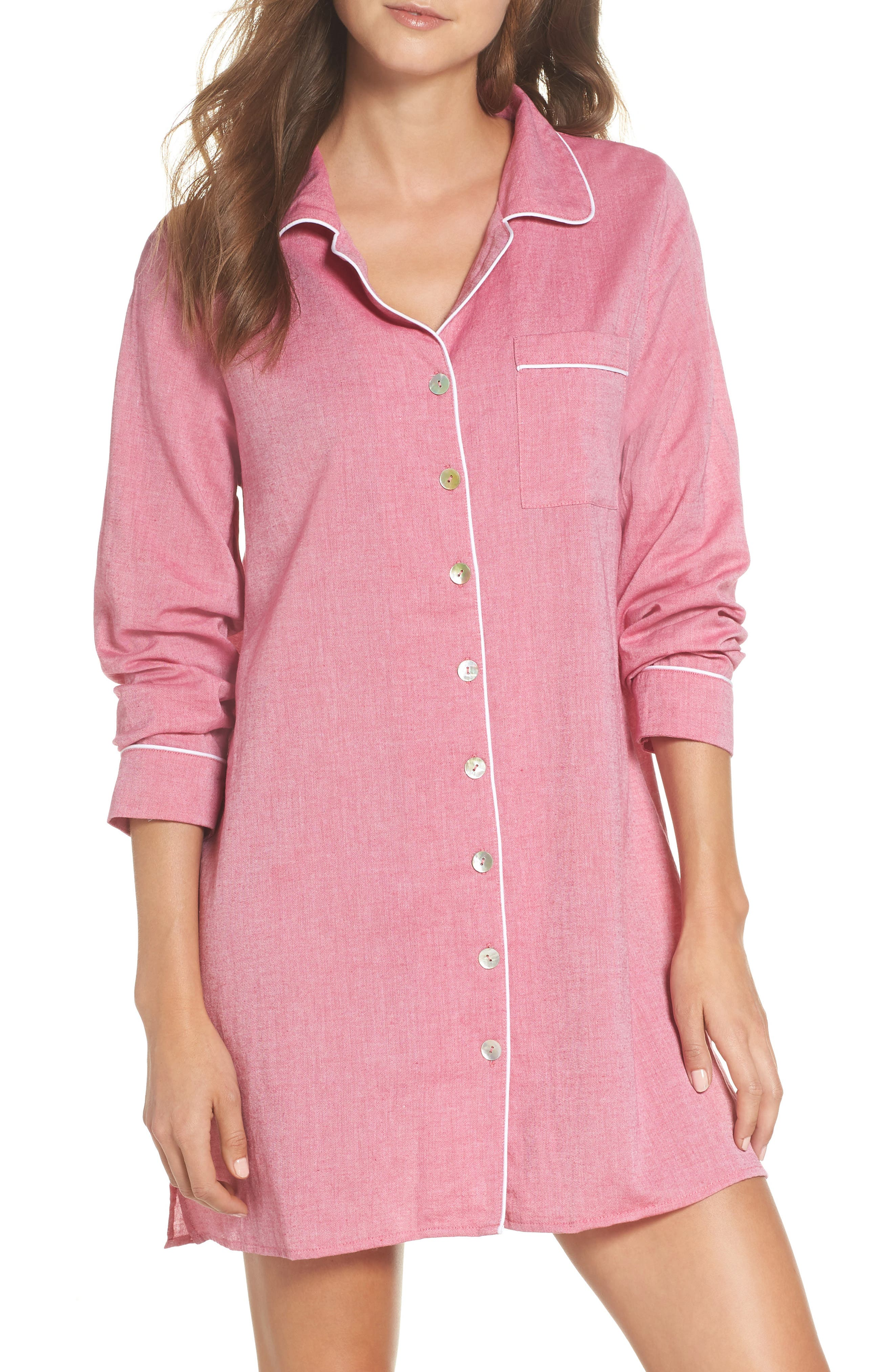 Sleep Shirt,                         Main,                         color, Rouge