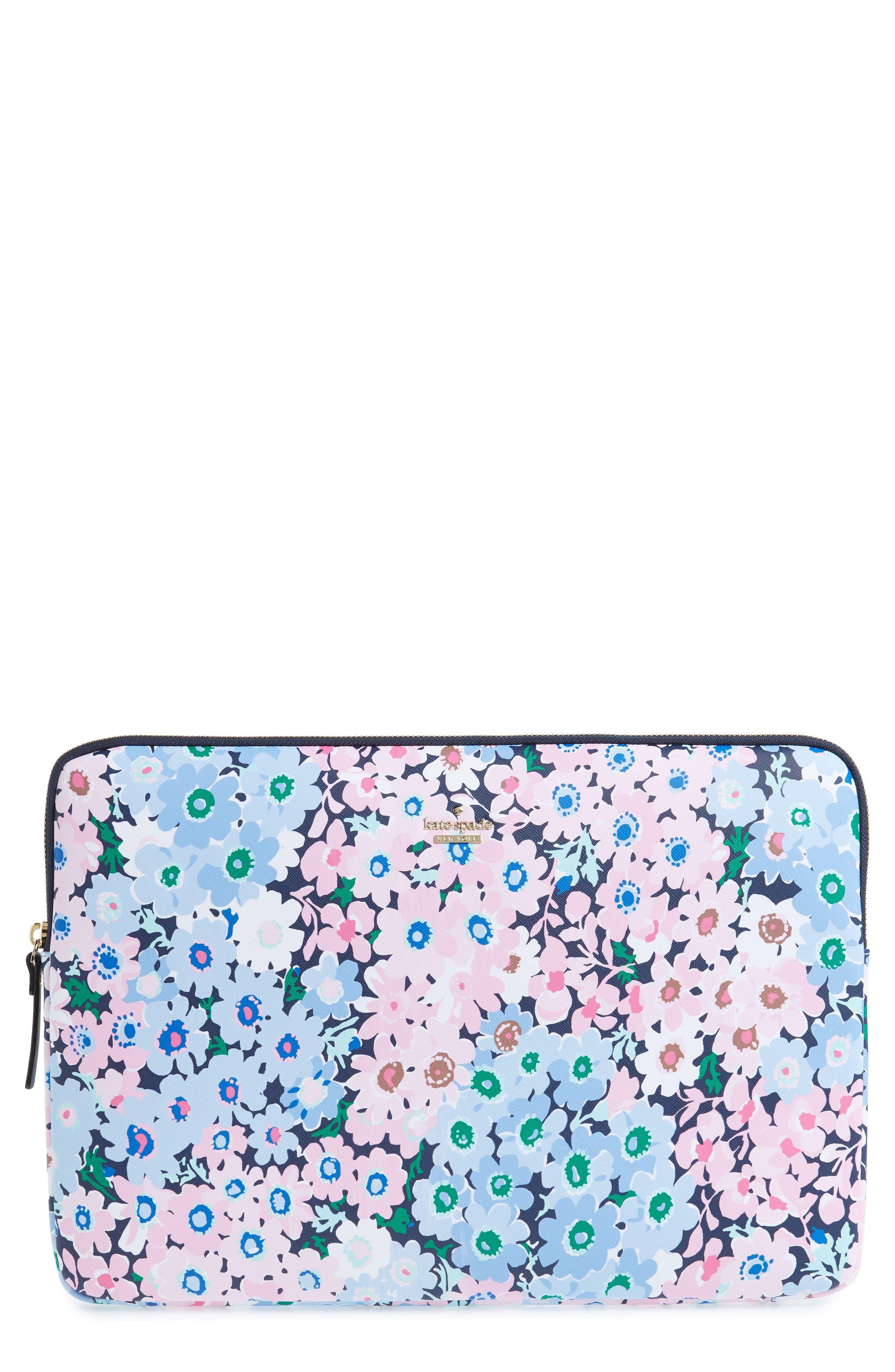 kate spade new york daisy garden faux leather universal laptop sleeve