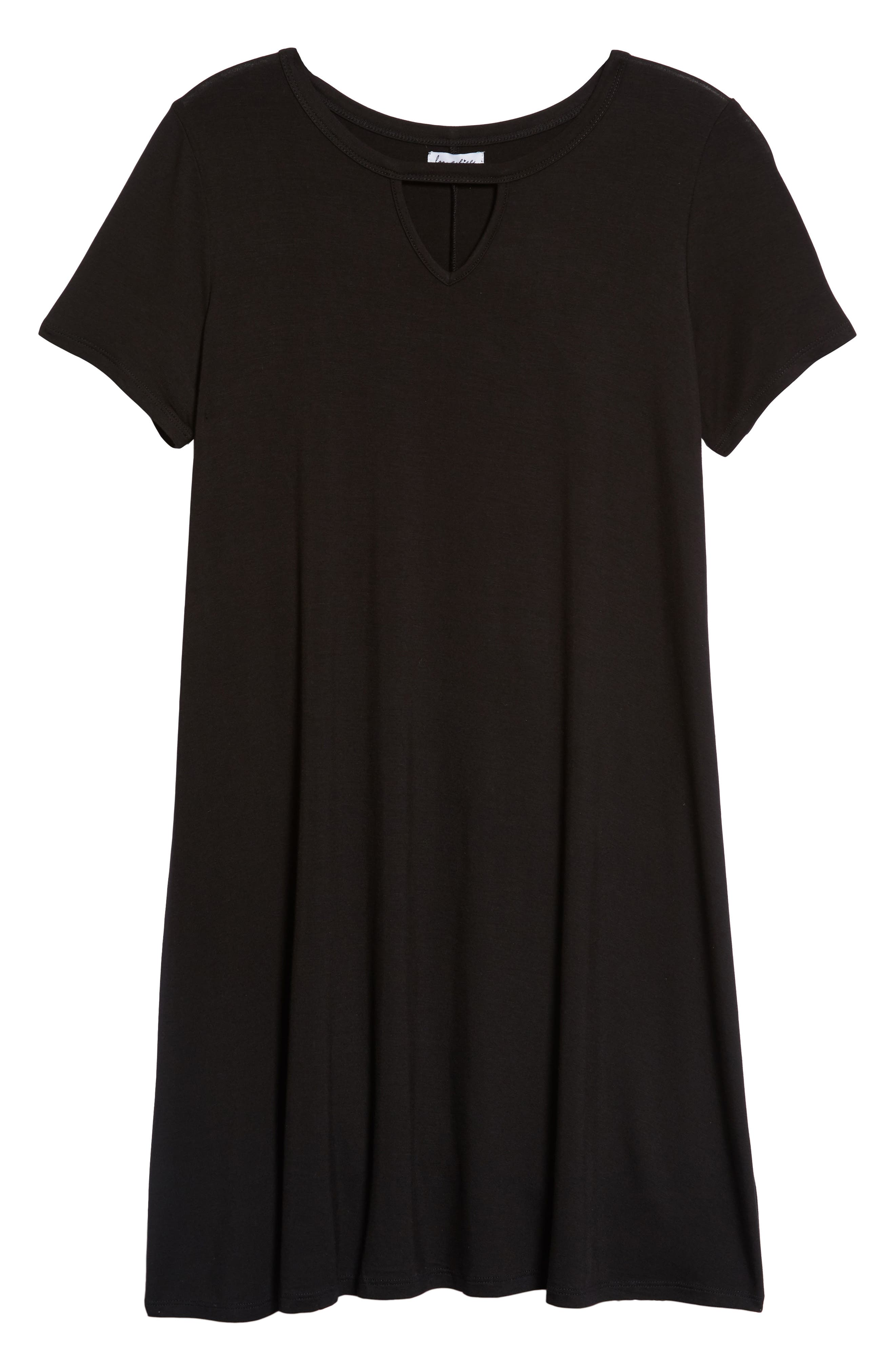 Gigi Knit Swing Dress,                             Main thumbnail 1, color,                             Black