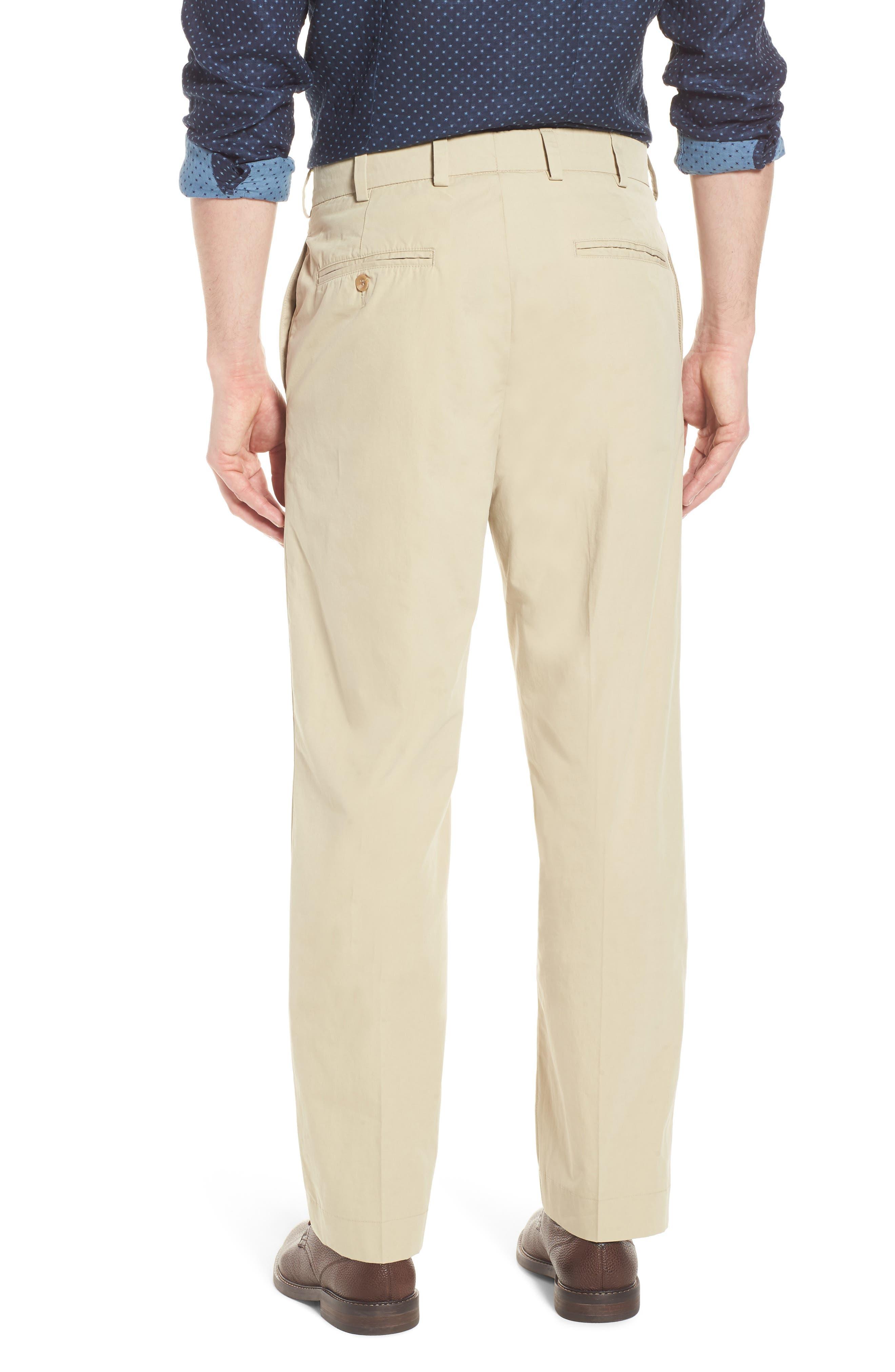 M2 Classic Fit Flat Front Tropical Cotton Poplin Pants,                             Alternate thumbnail 2, color,                             Khaki