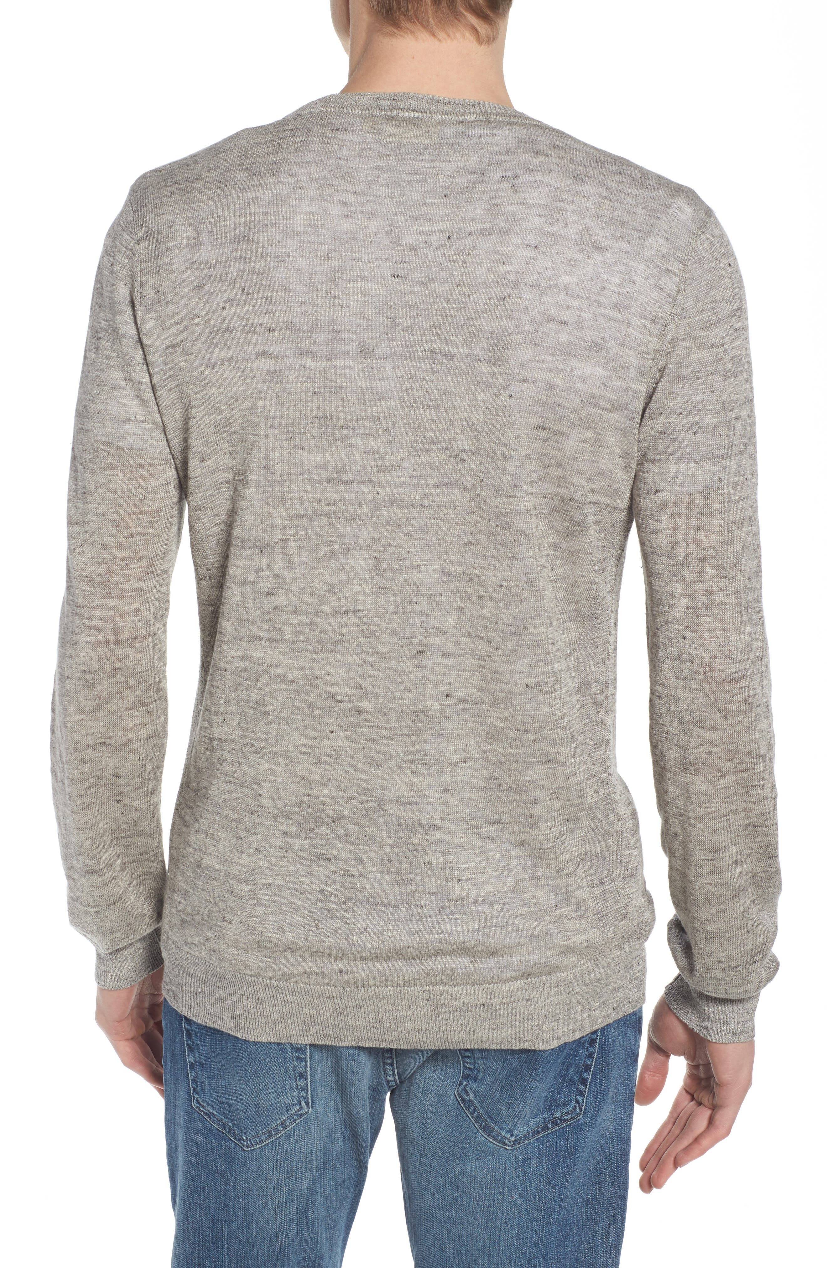 Heyward Long Sleeve T-Shirt,                             Alternate thumbnail 2, color,                             Heather Grey