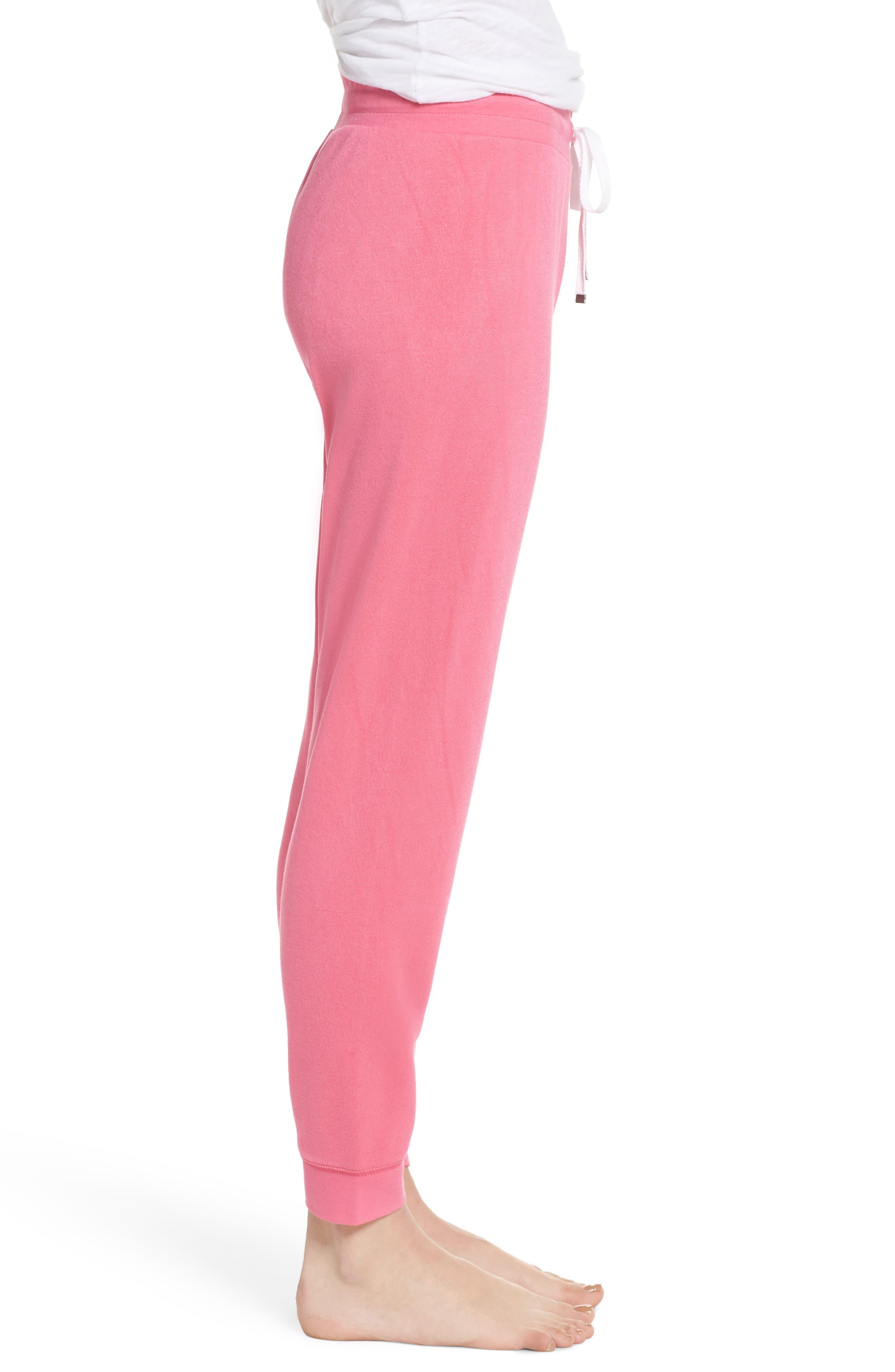 Firecracker Jogger Pajama Pants,                             Alternate thumbnail 3, color,                             Pink Fandango