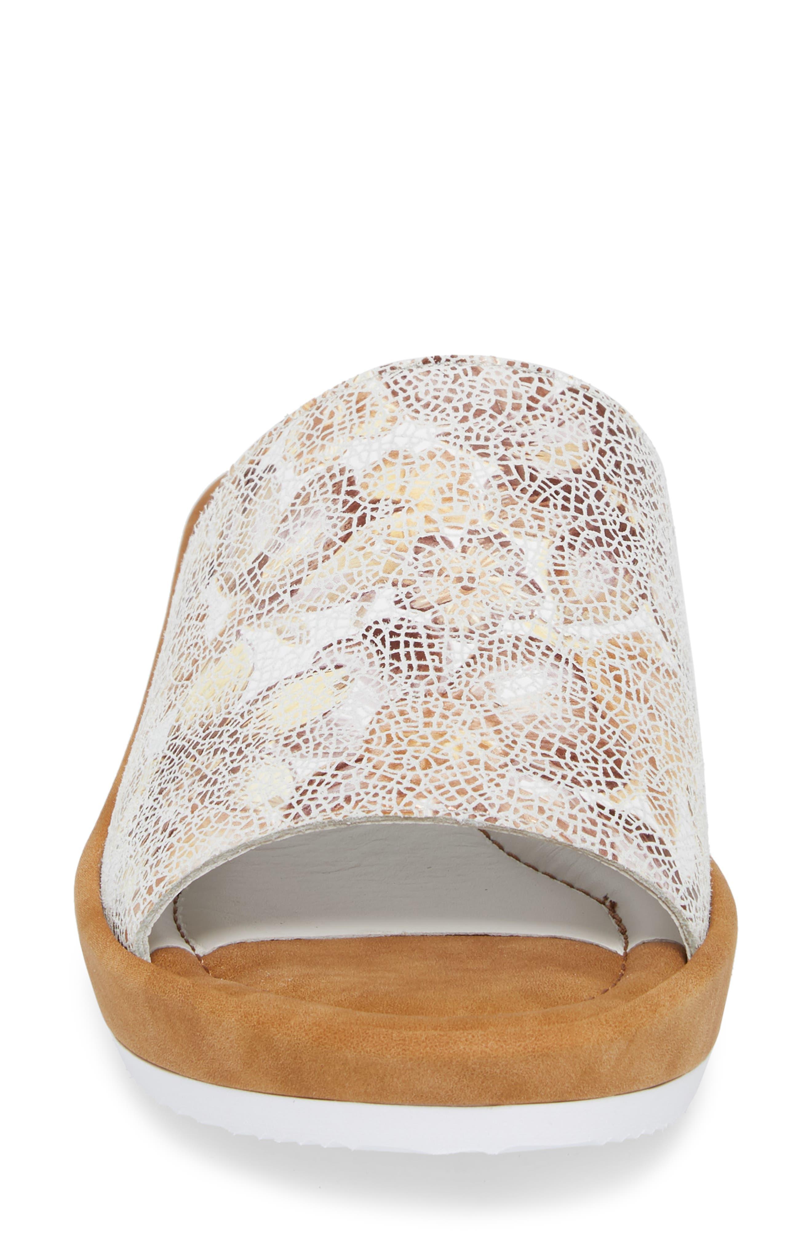 Tania Platform Wedge Slide Sandal,                             Alternate thumbnail 4, color,                             Taupe Leather