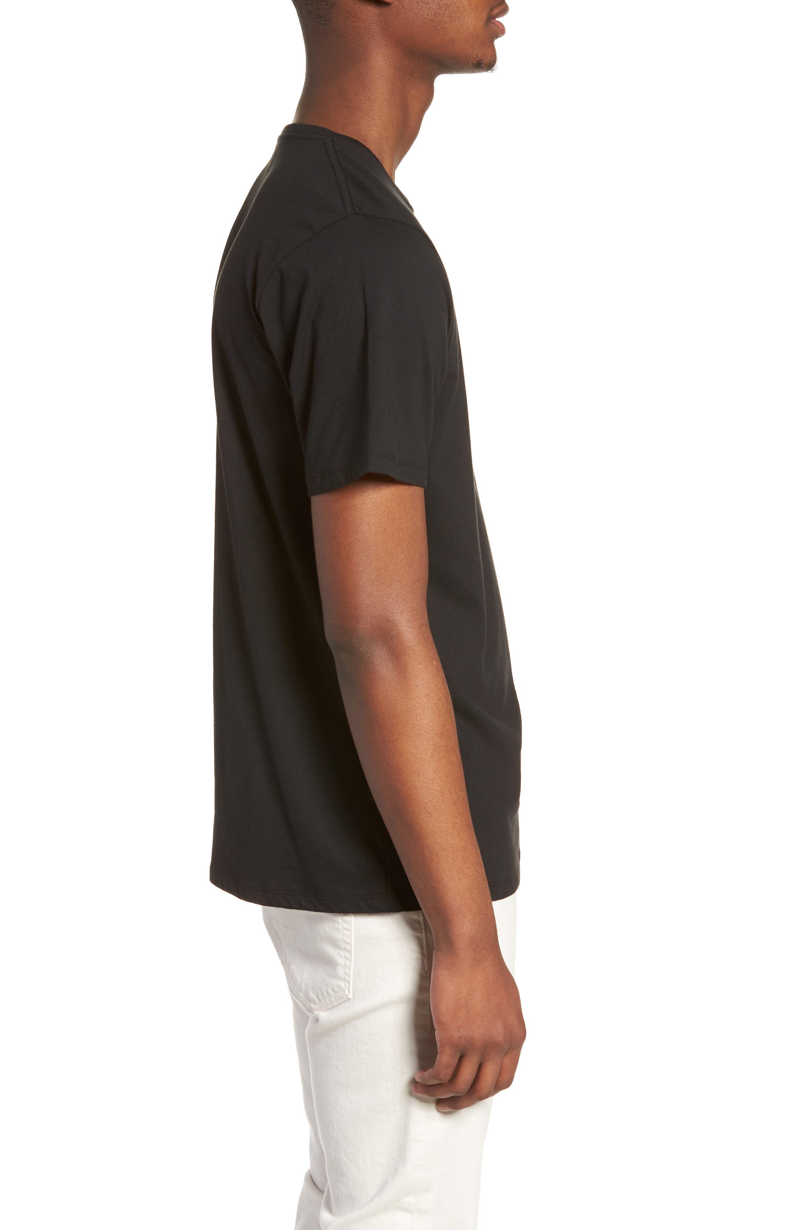 Embroidered Slash T-Shirt,                             Alternate thumbnail 3, color,                             Black