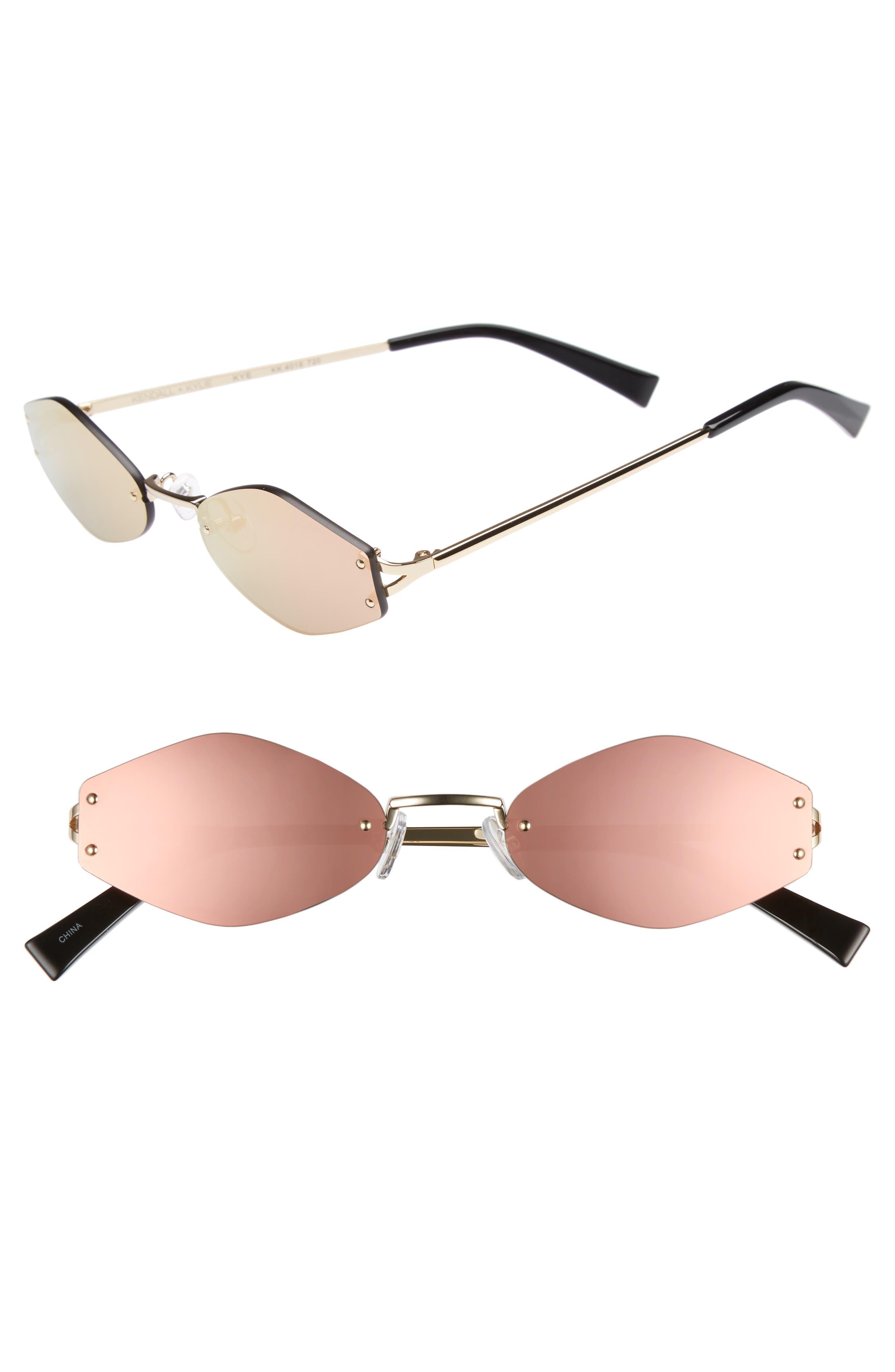 KENDALL + KYLIE 51mm Rimless Geometric Sunglasses
