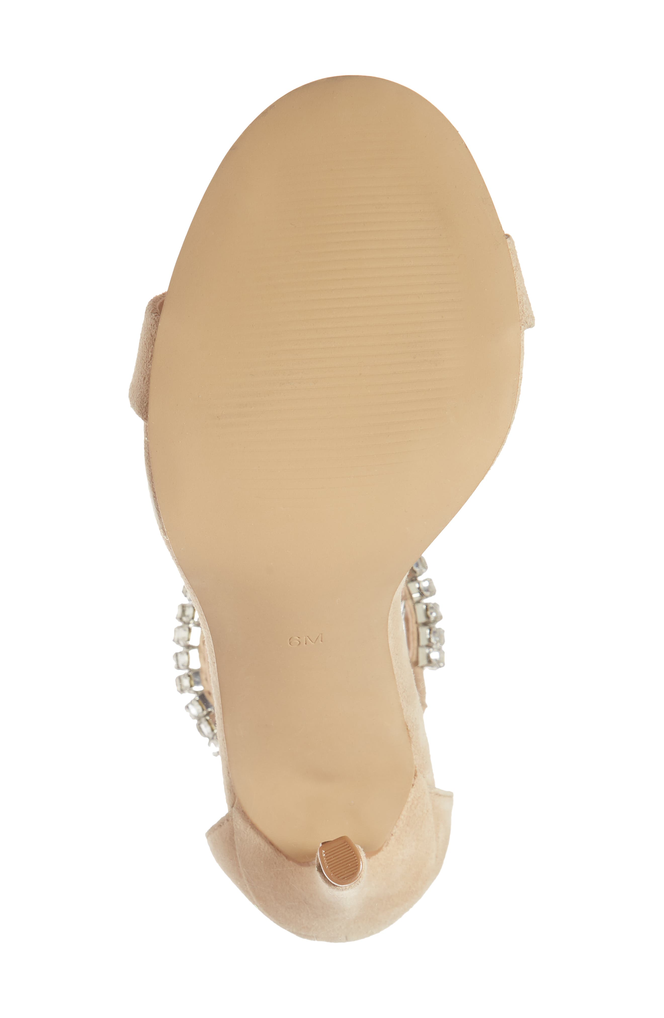 Rando Crystal Sandal,                             Alternate thumbnail 6, color,                             Natural Suede