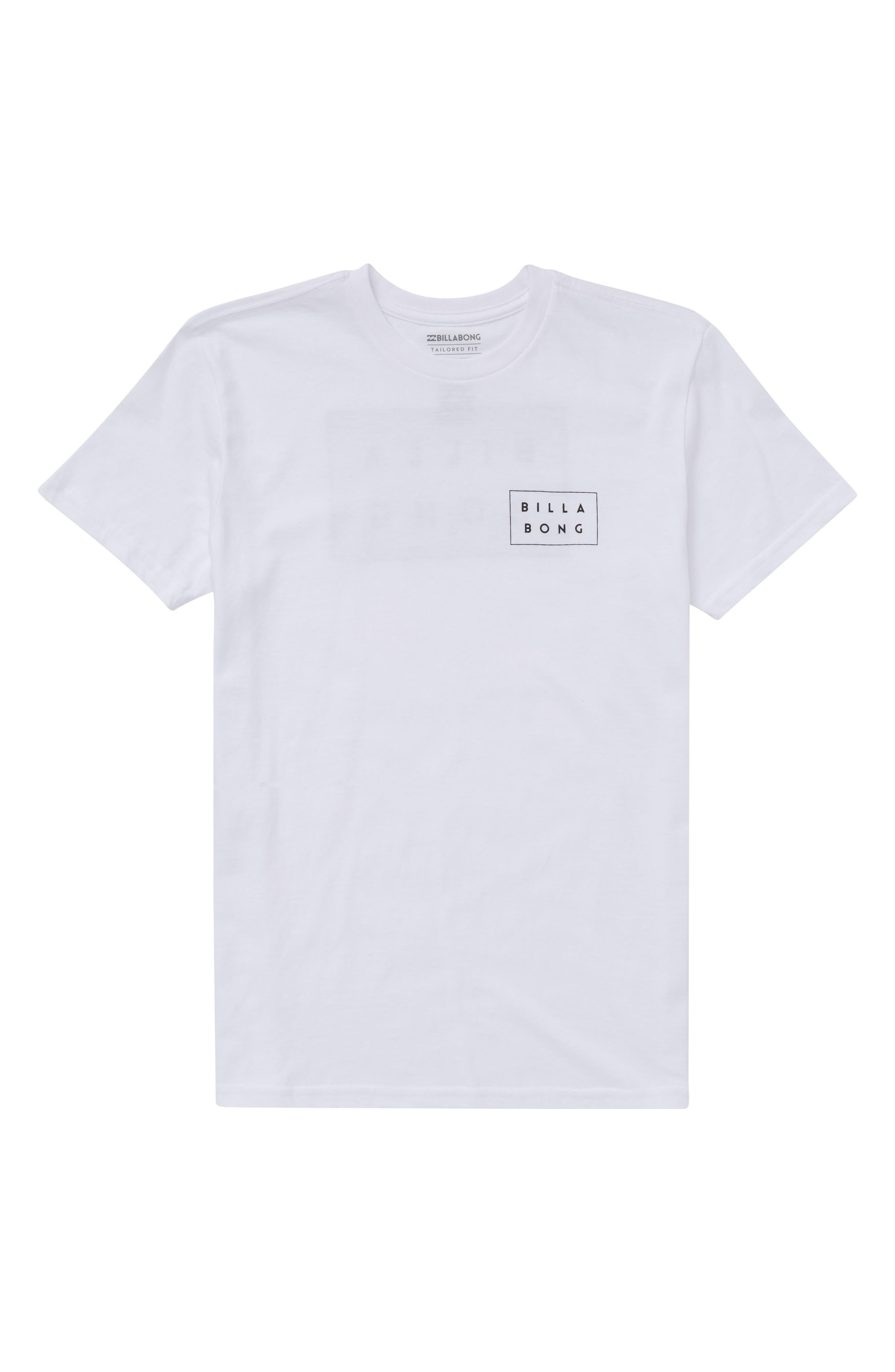 Die Cut Graphic T-Shirt,                         Main,                         color, White