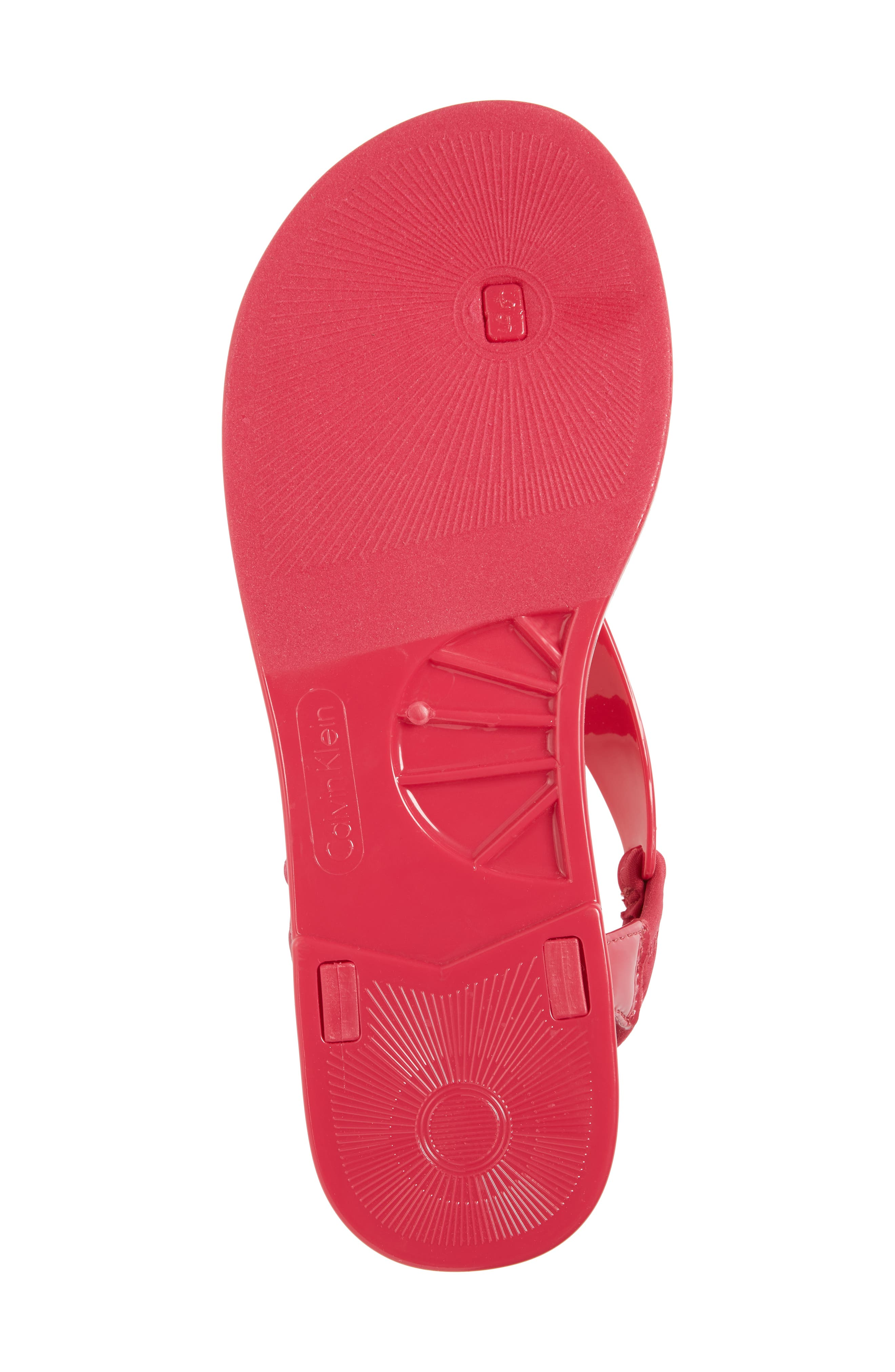 Janny Jelly Sandal,                             Alternate thumbnail 6, color,                             Hibiscus Pink