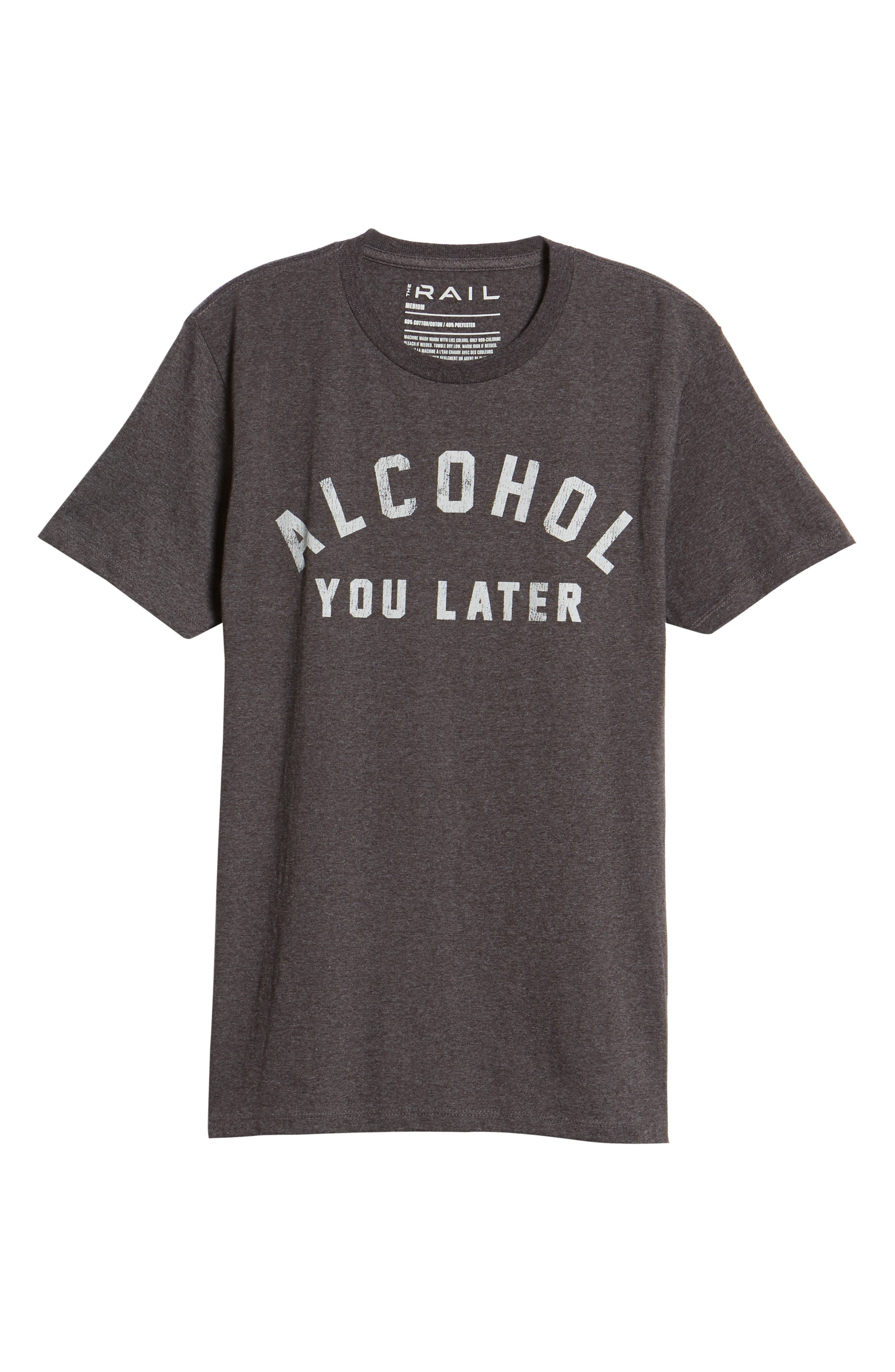 Alcohol You Later T-Shirt,                             Alternate thumbnail 6, color,                             Grey Charcoal Heather Alcohol