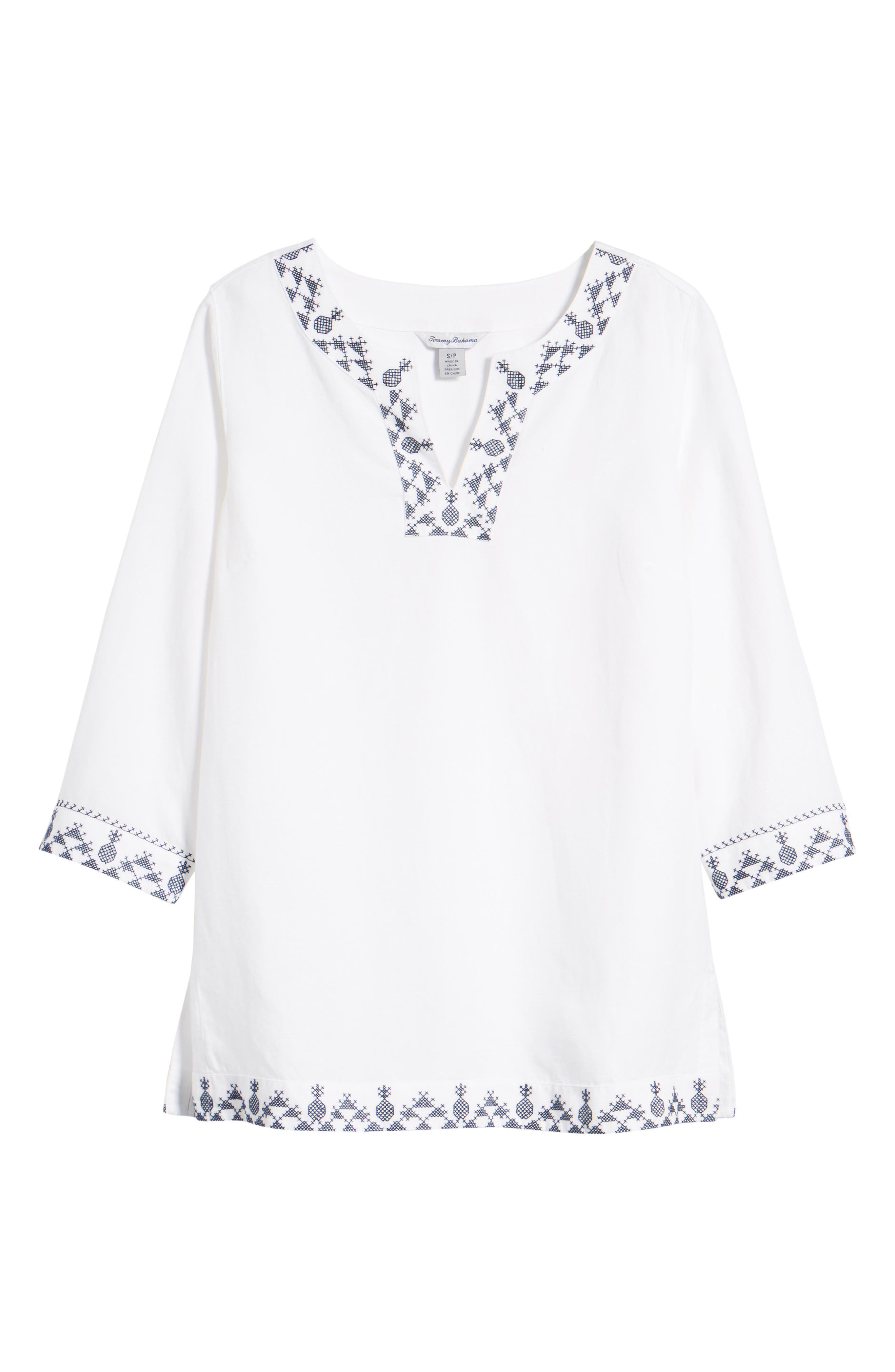 Prim Pina Embroidered Tunic,                             Alternate thumbnail 6, color,                             White