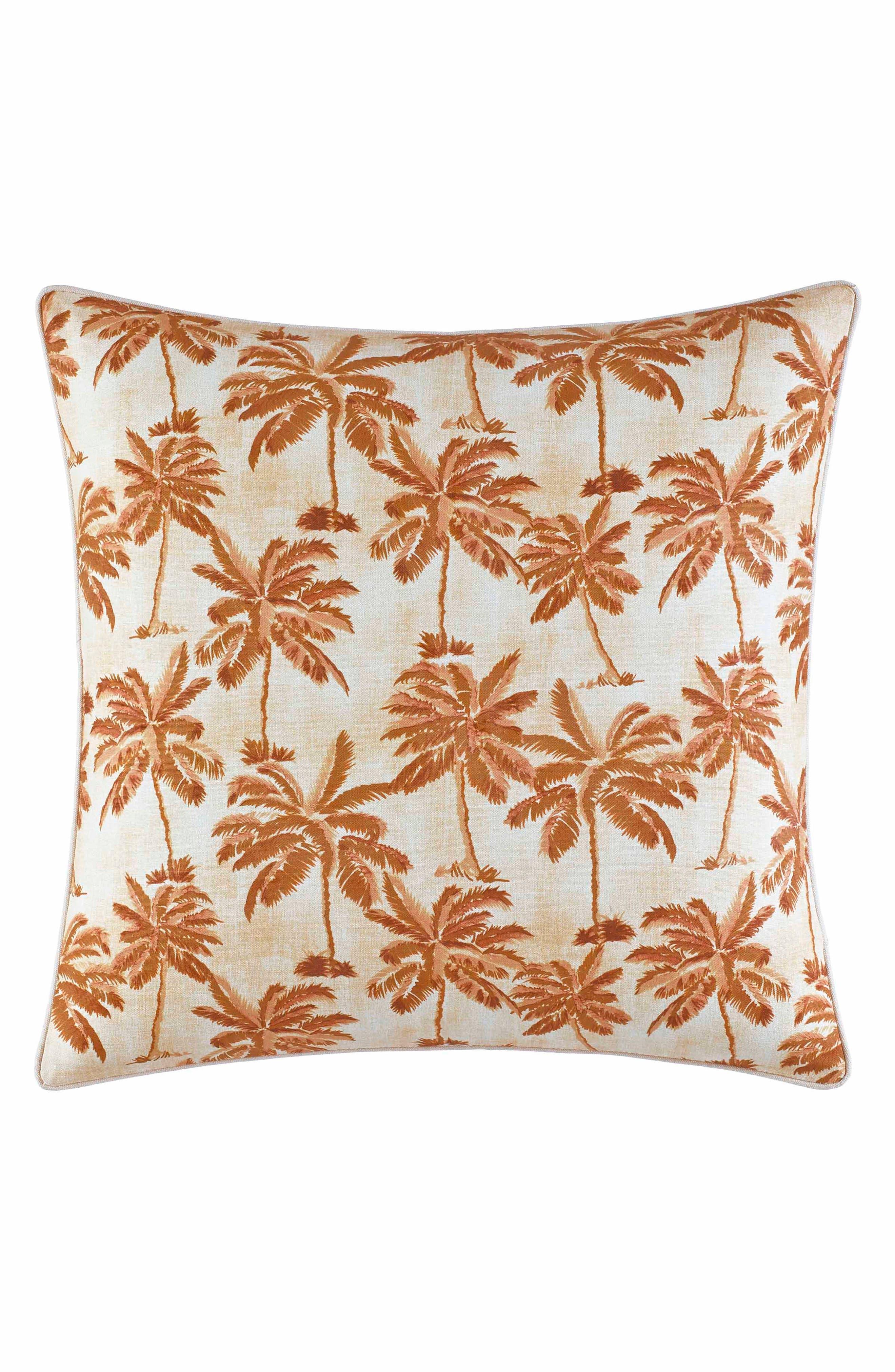 Kamari Print Accent Pillow,                             Main thumbnail 1, color,                             Medium Orange