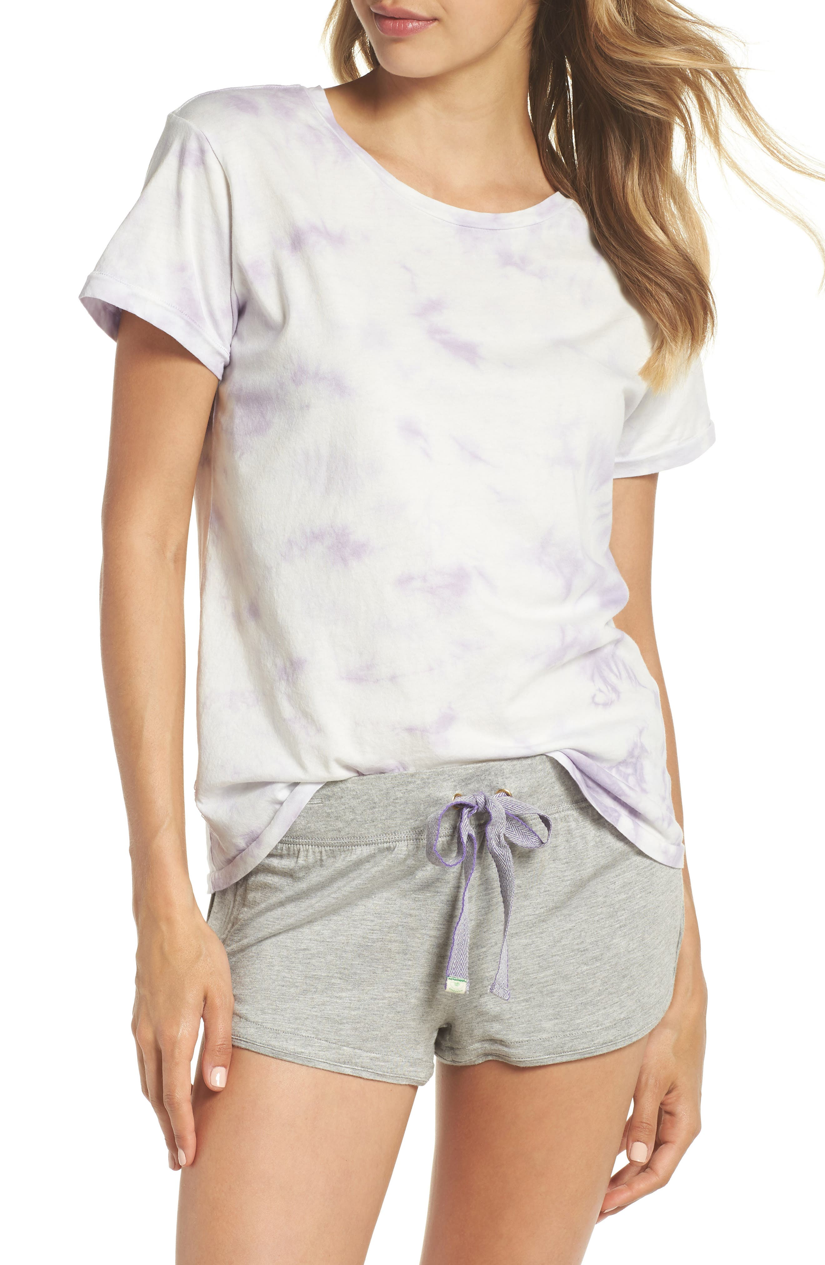 Tie Dye Tee,                         Main,                         color, Lilac Tie Dye