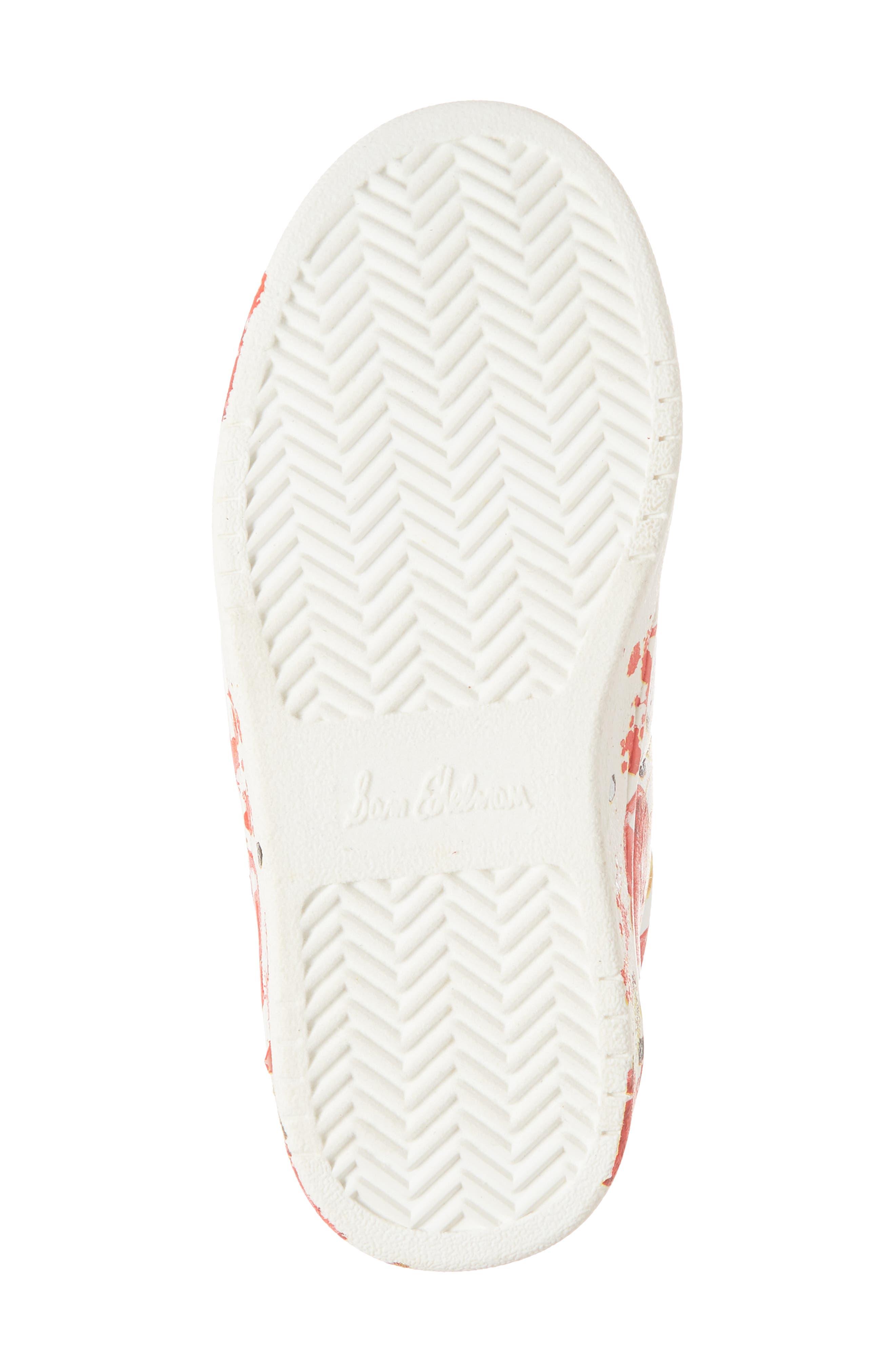 Blane Milford Fruit Print Sneaker,                             Alternate thumbnail 6, color,                             White/ Cherry Faux Leather