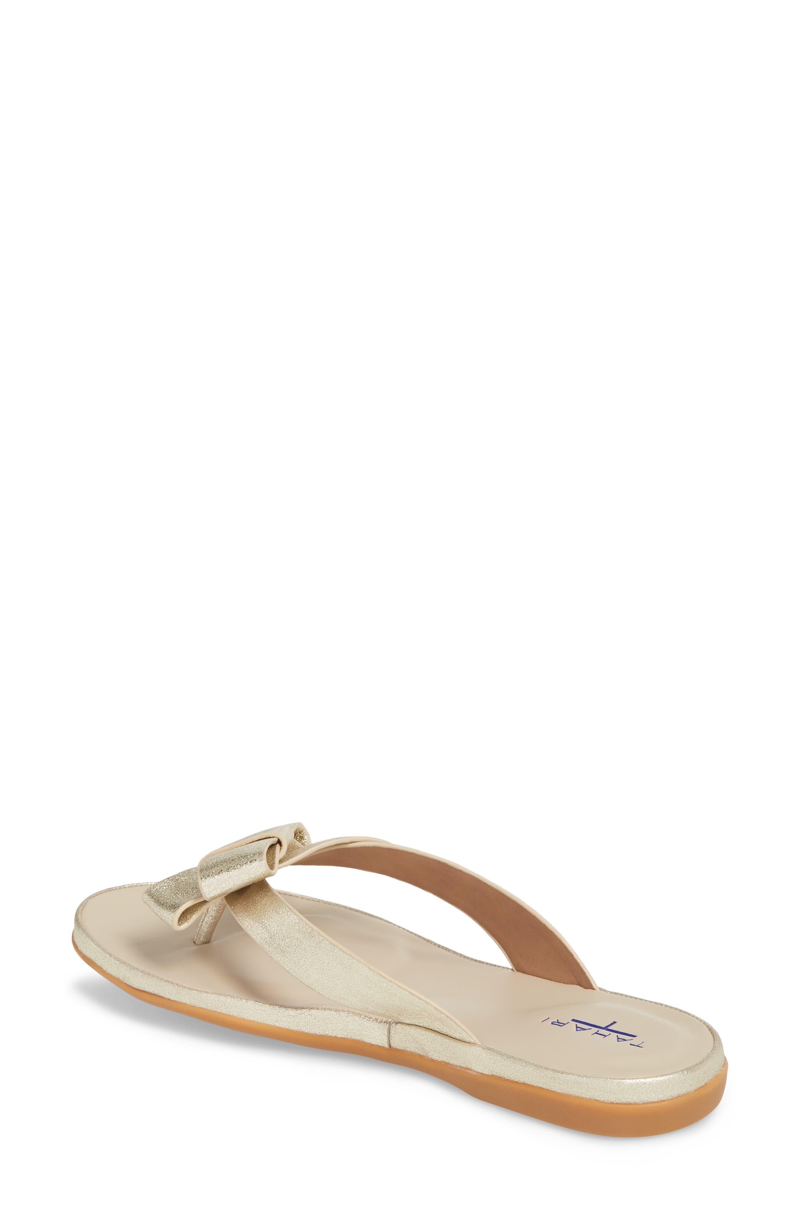 Aria Flip Flop,                             Alternate thumbnail 2, color,                             Warm Gold Leather