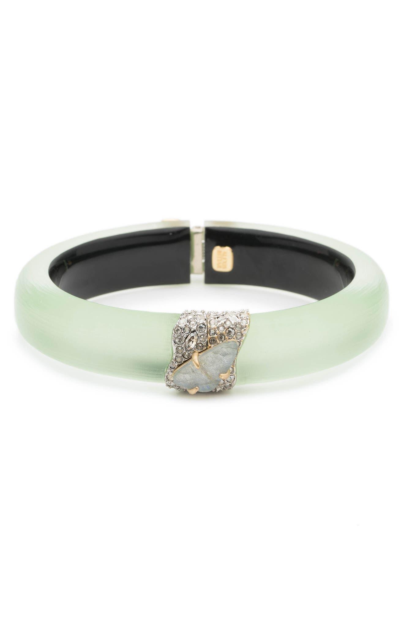 Crystal Encrusted Roxbury Bracelet,                             Main thumbnail 1, color,                             Seafoam